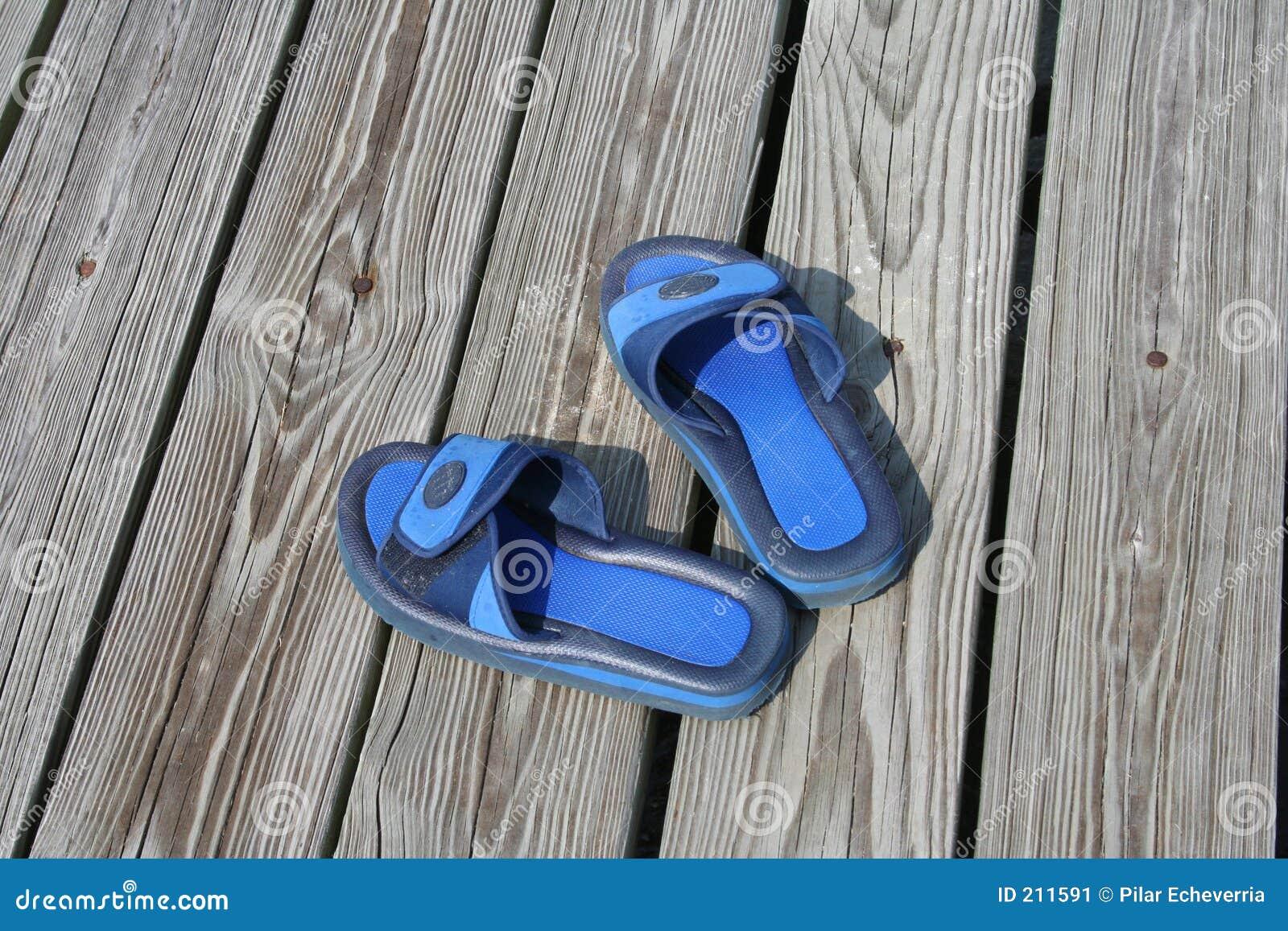 Blåa sandals