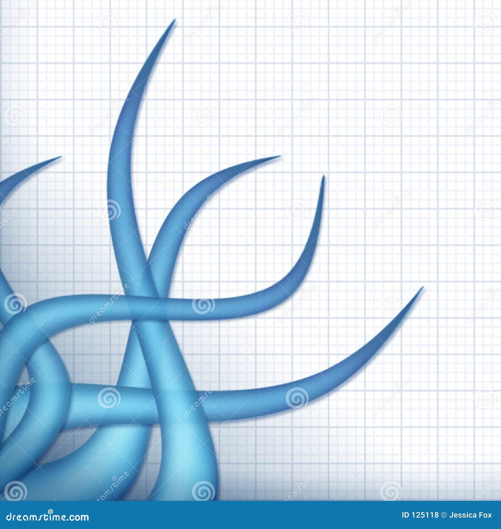 Blåa tentakel