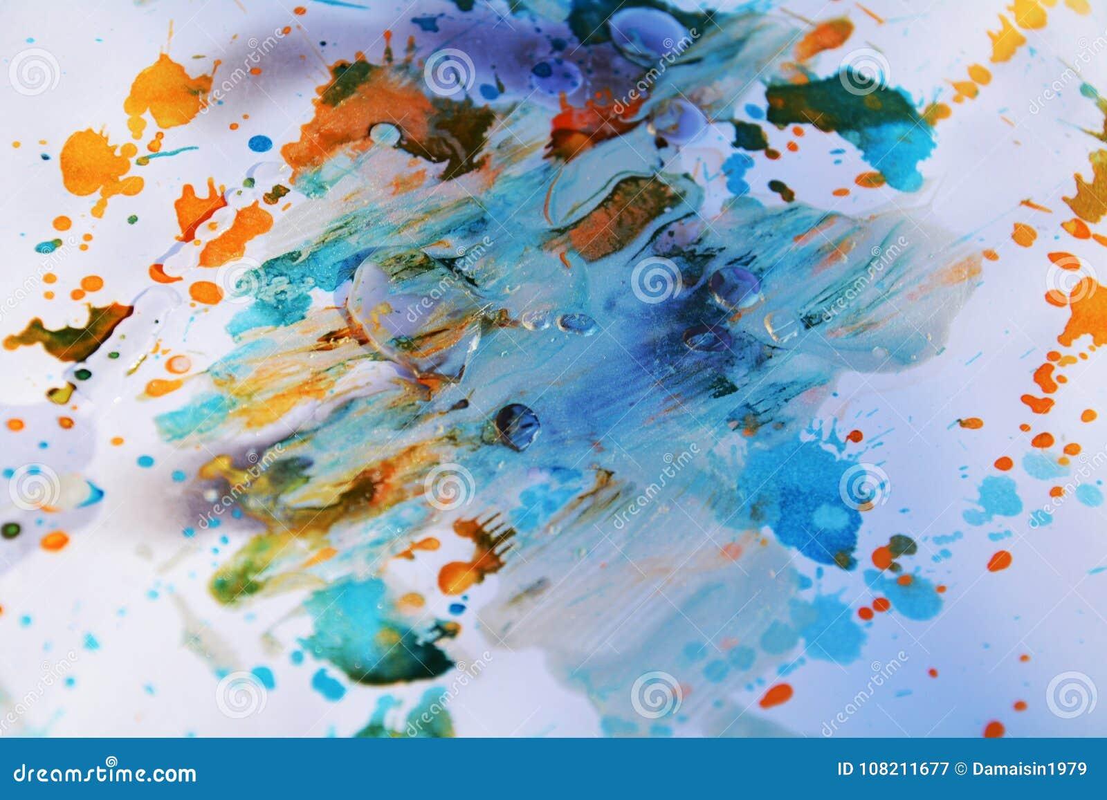 Blåa vaxartade bakgrunds- och borsteslaglängder för pastell, toner, fläckar