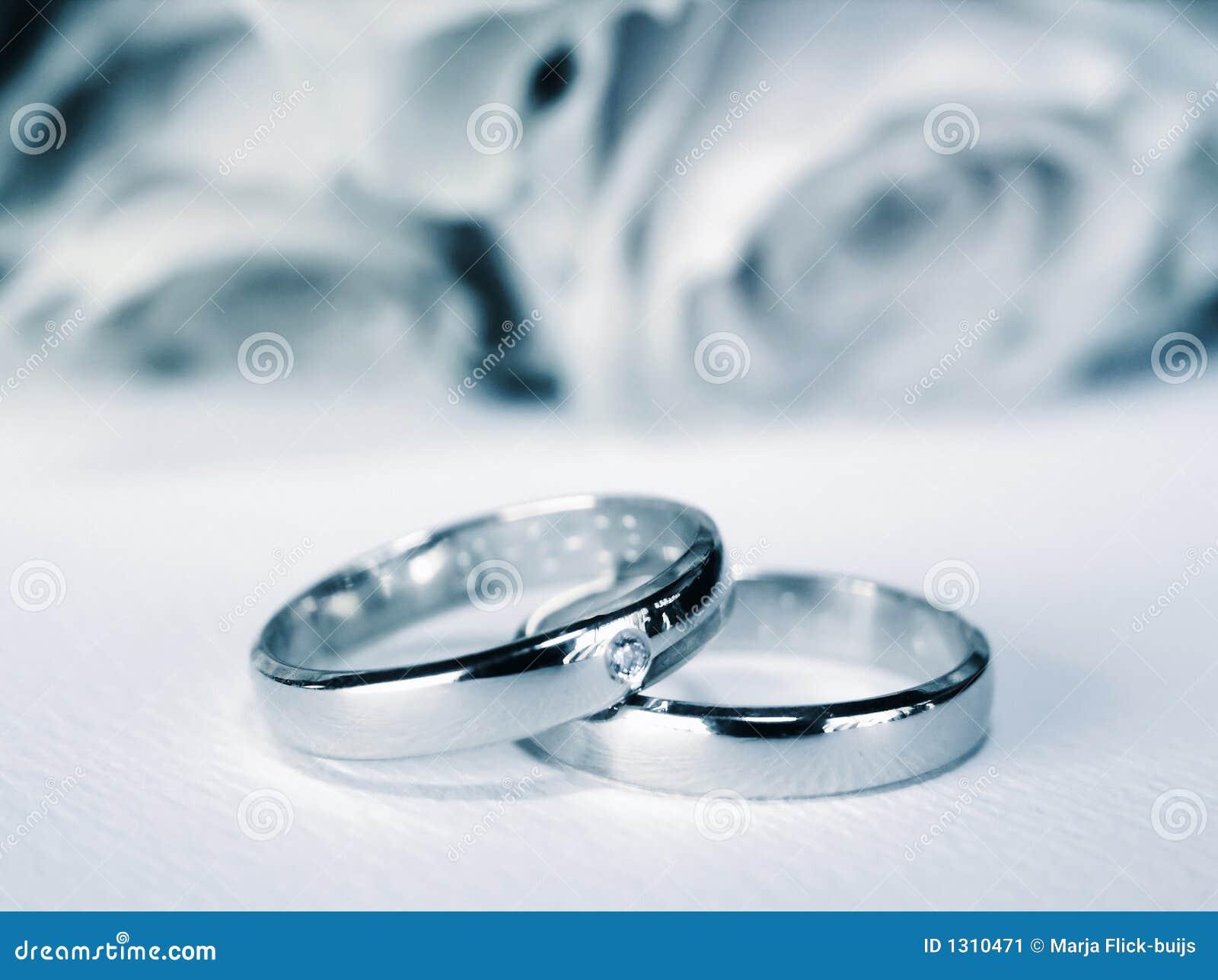 Blåa weddingrings