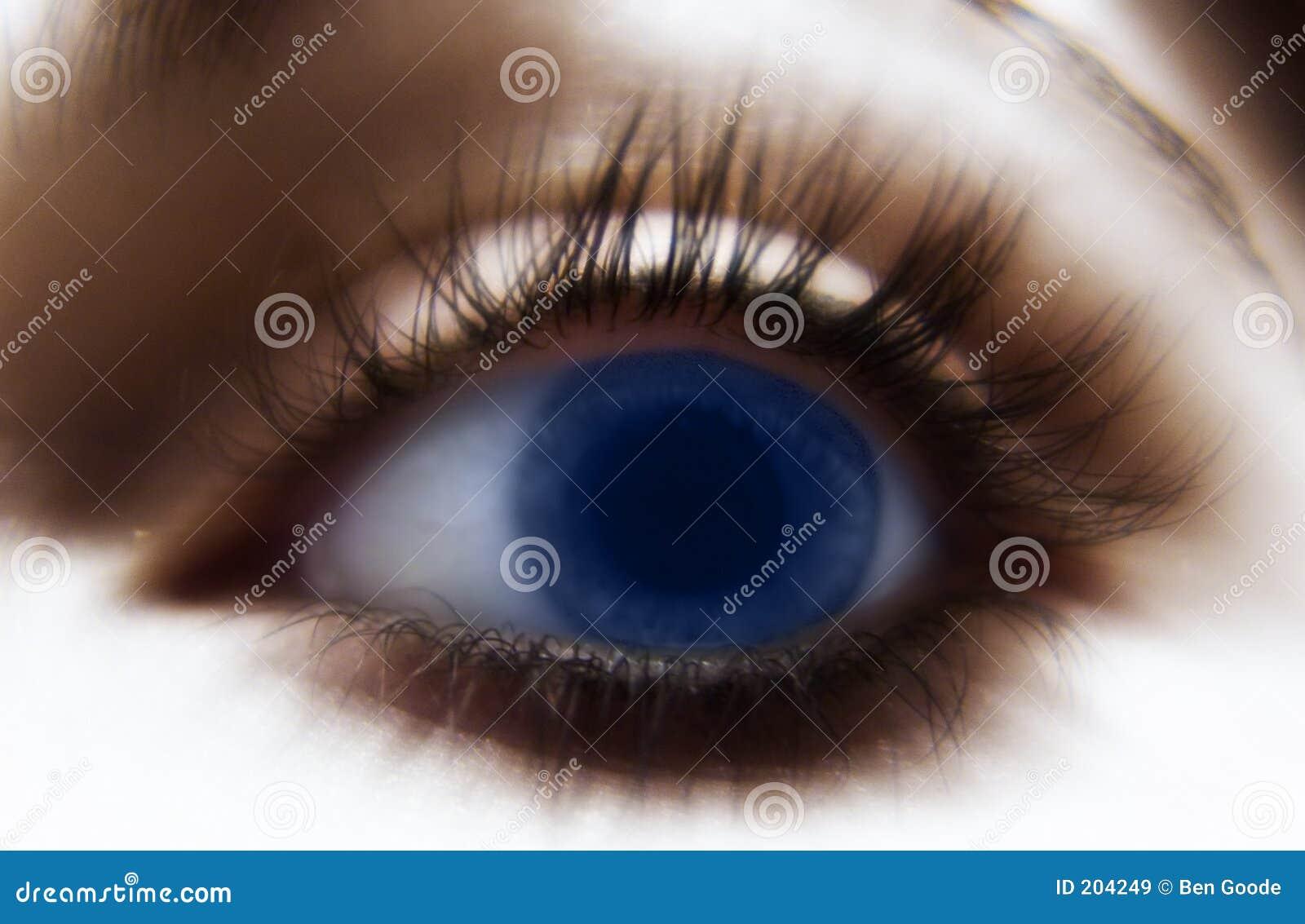 Blått öga