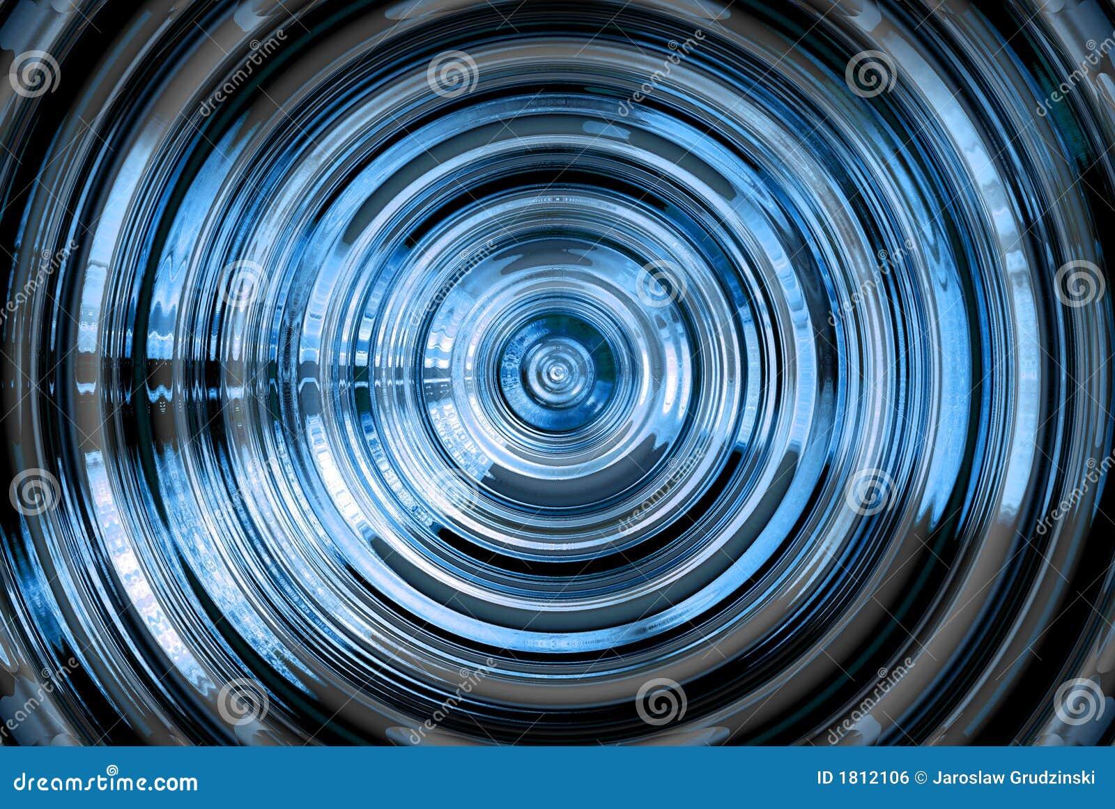 Blått hypnotiskt för abstrakt bakgrund