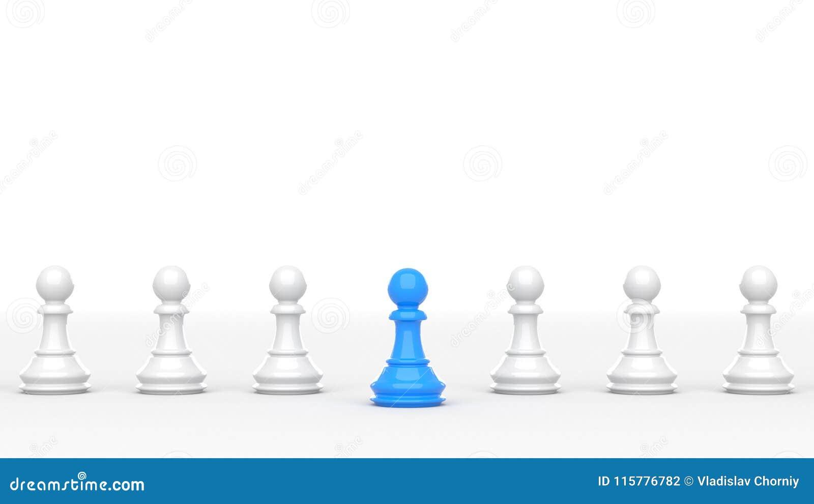 Blått pantsätter av schack