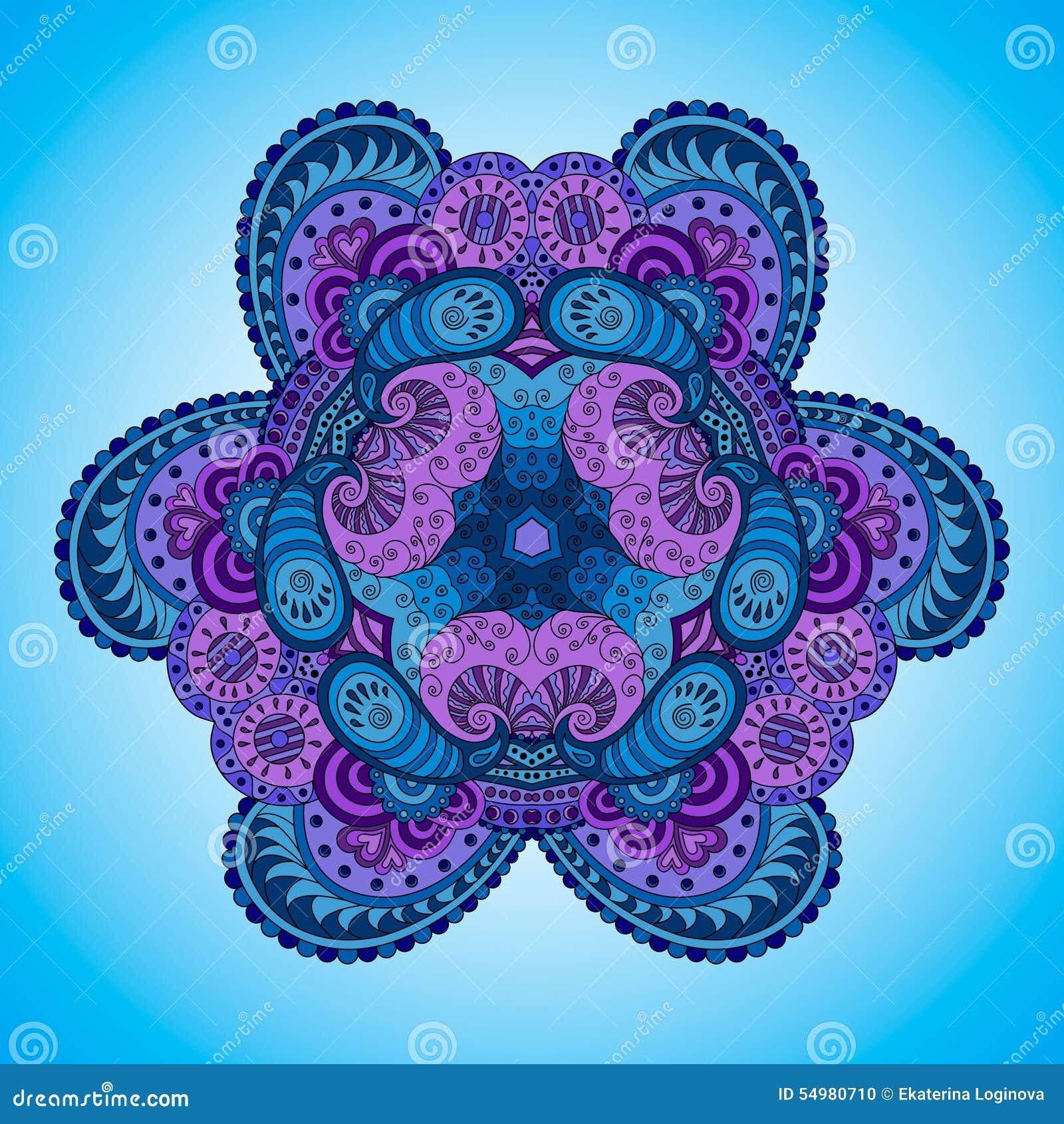 Blått-violett mandala