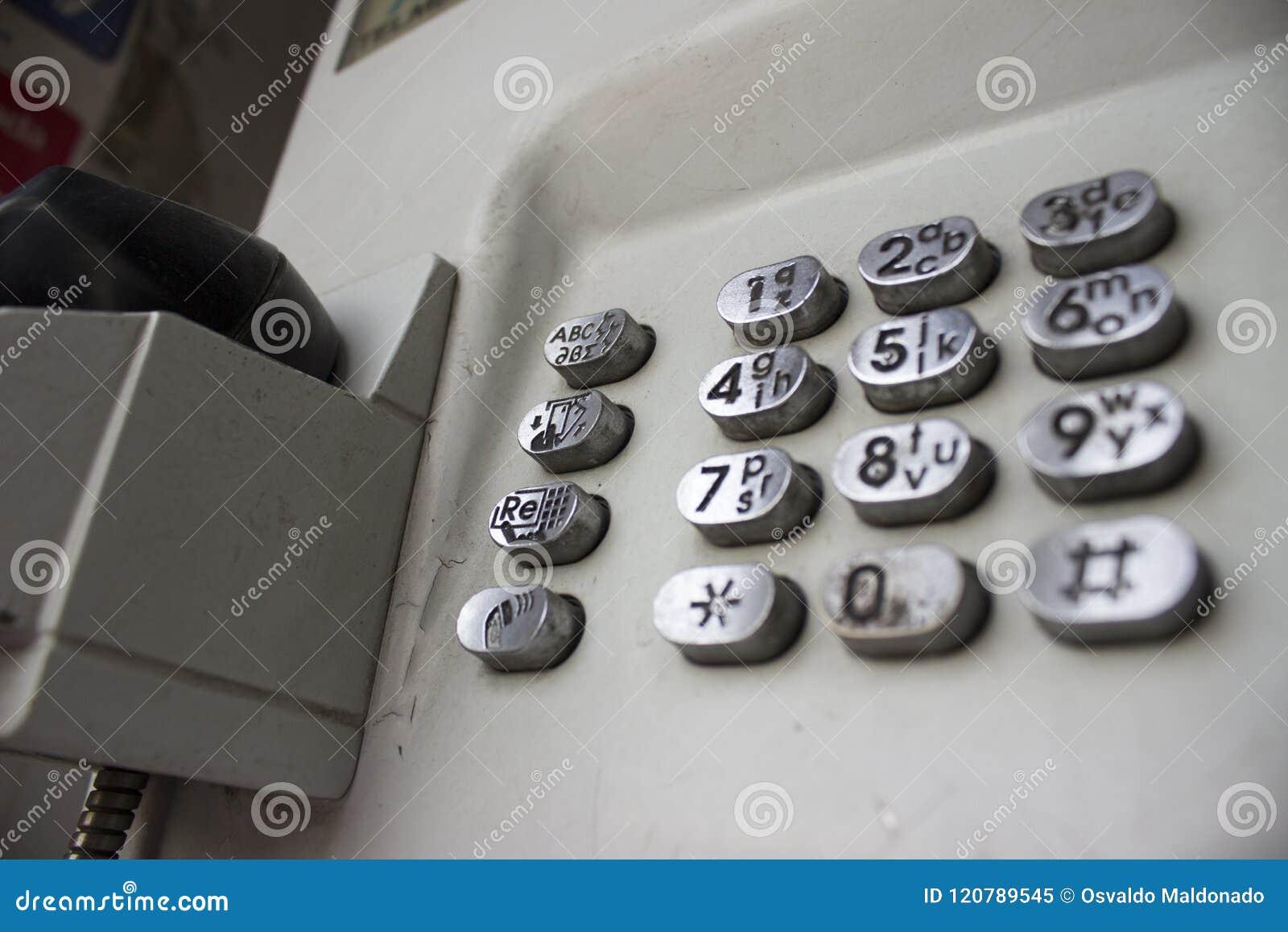 Blåttbås för offentlig telefon - yttersida