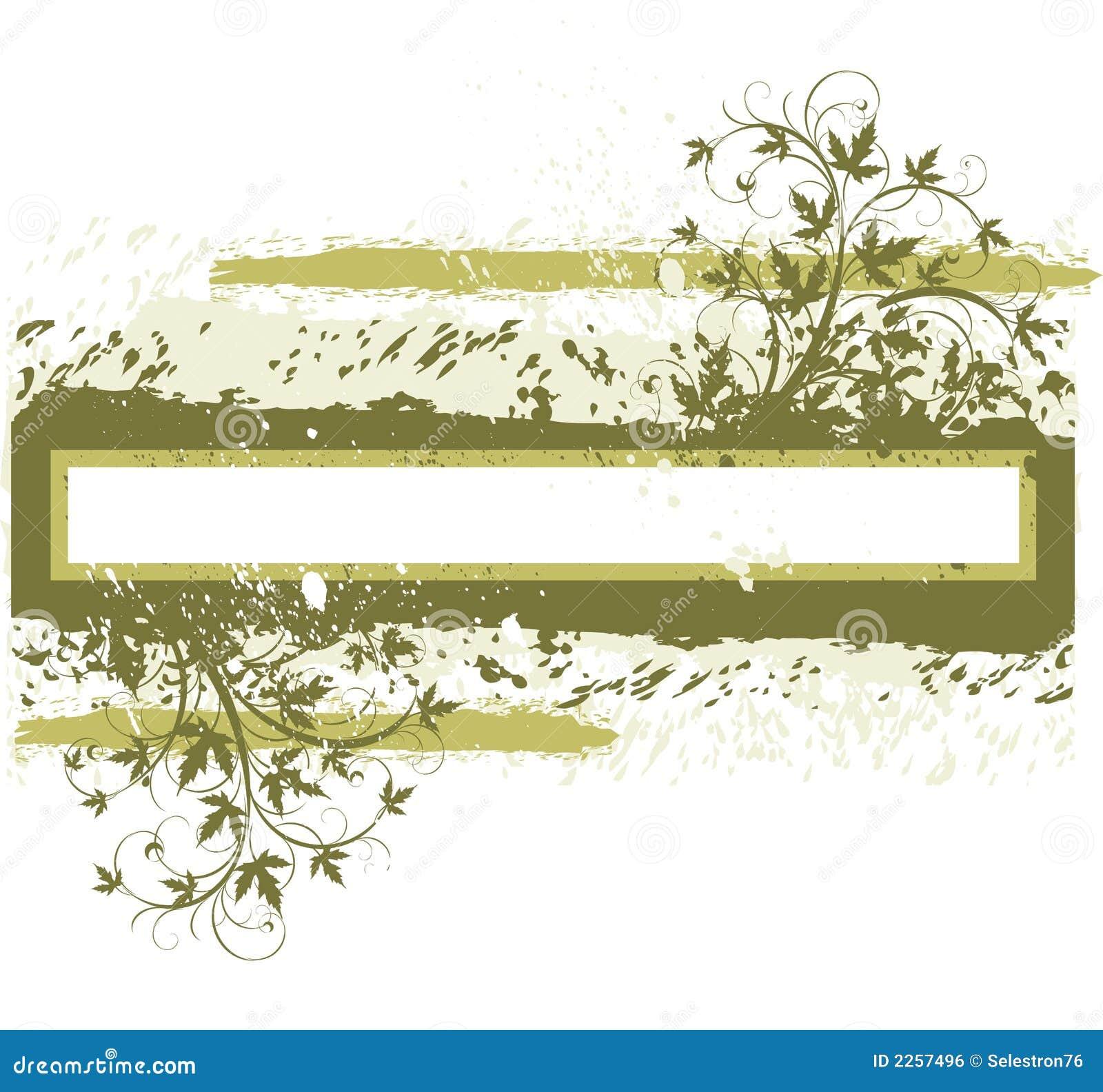 Blüht grunge Fahne