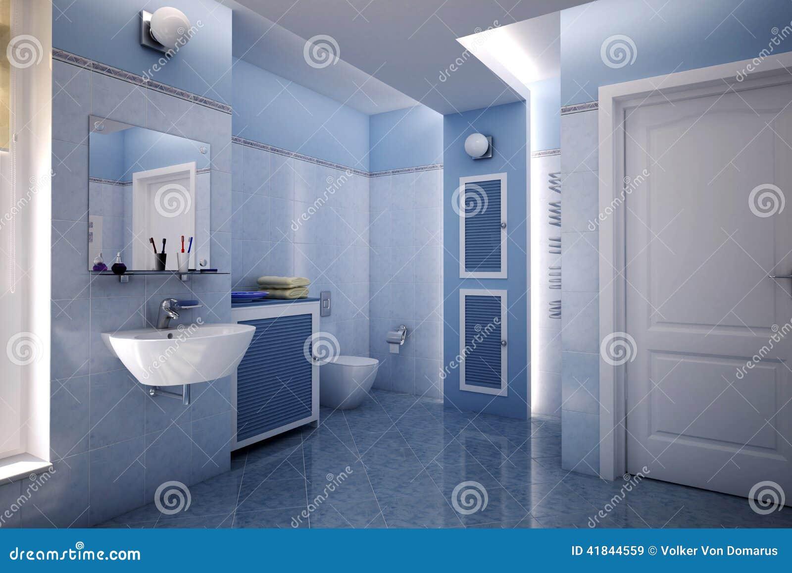 Blå badrum stock illustrationer   bild: 41844559