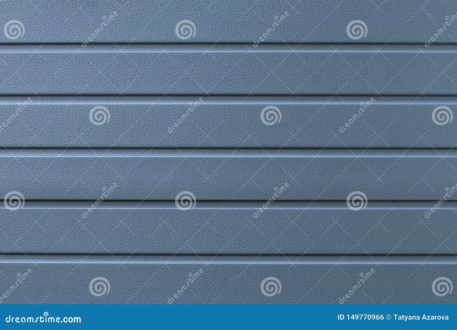 Bl? metalltextur f?r bakgrund Gråa abstrakta linjer modell Randig yttersida för stålvägg Försilvra brädet, järn Skinande grå best