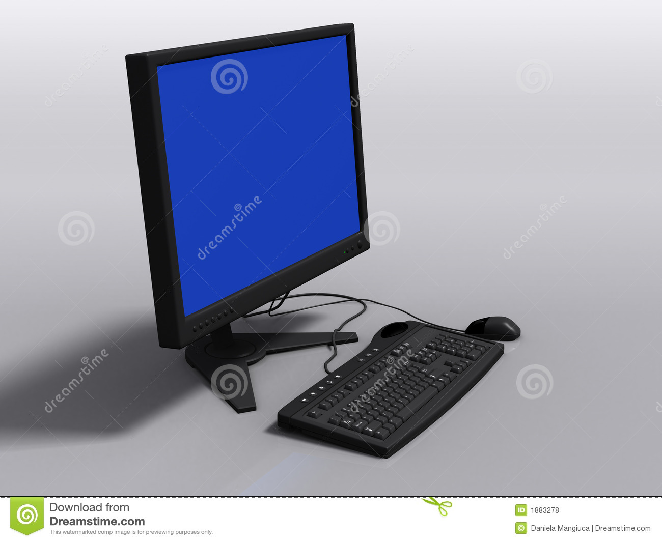Black 3d Model Of Keyboard, Monitor And Mouse Royalty Free ...