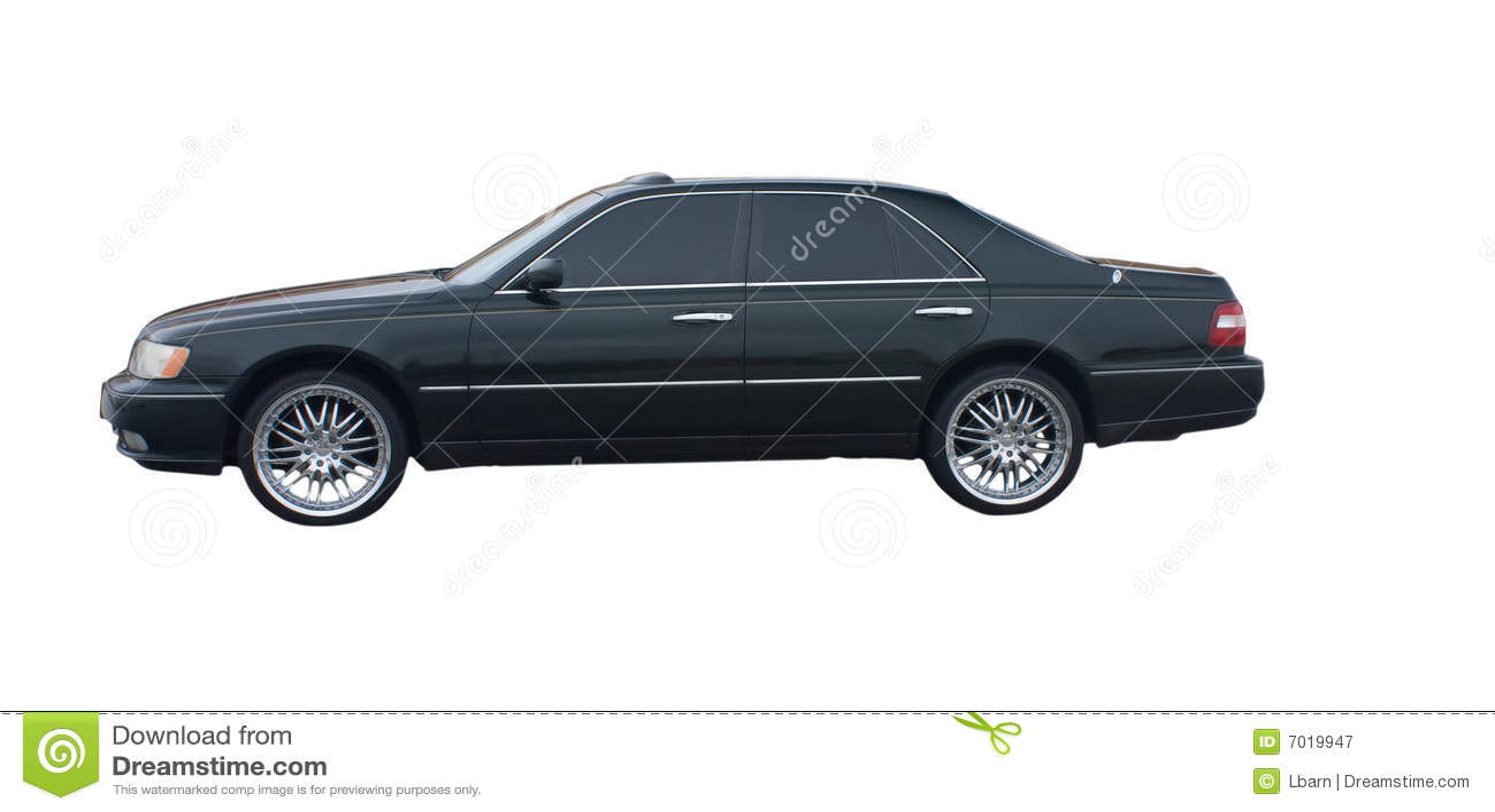 Black 4 Door Sedan Stock Image Image Of Modern Path 7019947