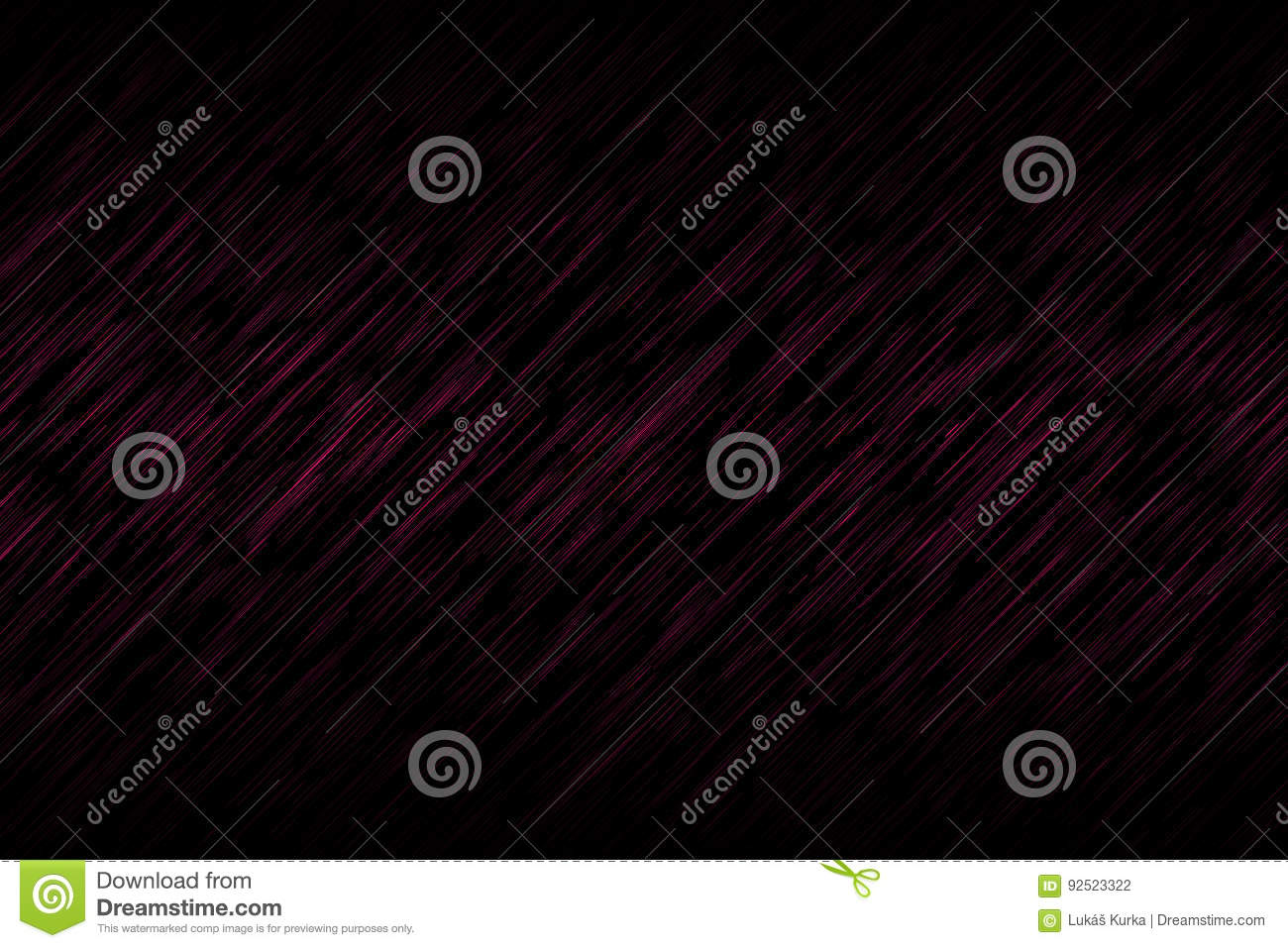 Black Abstract Background With Pink Oblique Lines