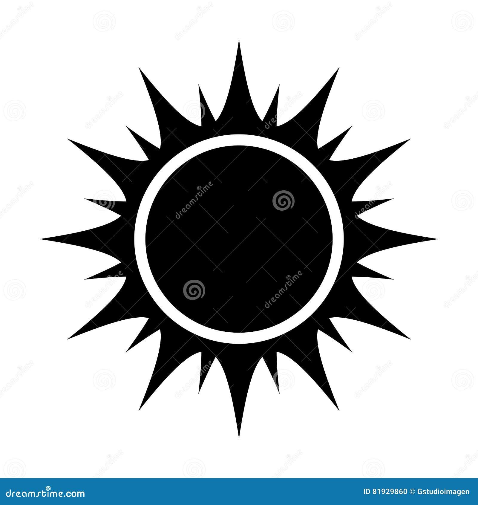 Black Abstract Sun Vector Graphic Stock Vector