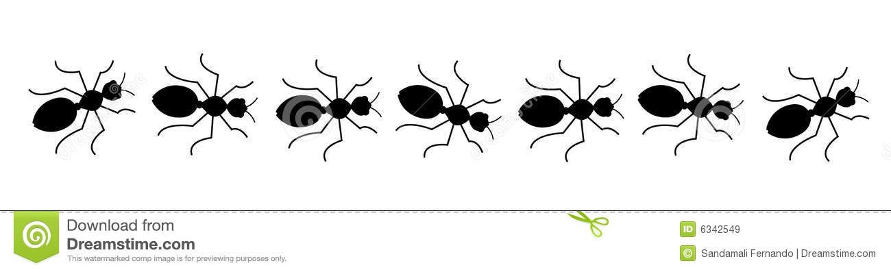 Line Of Ants Clipart B...