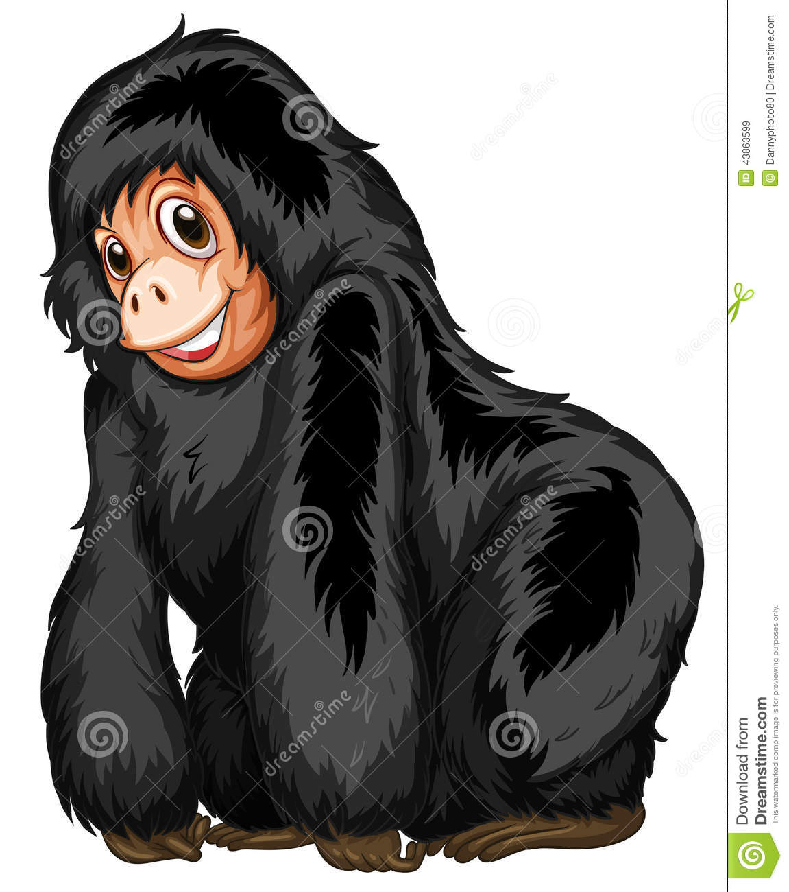 Black Ape Stock Vector Illustration Of Object Silly
