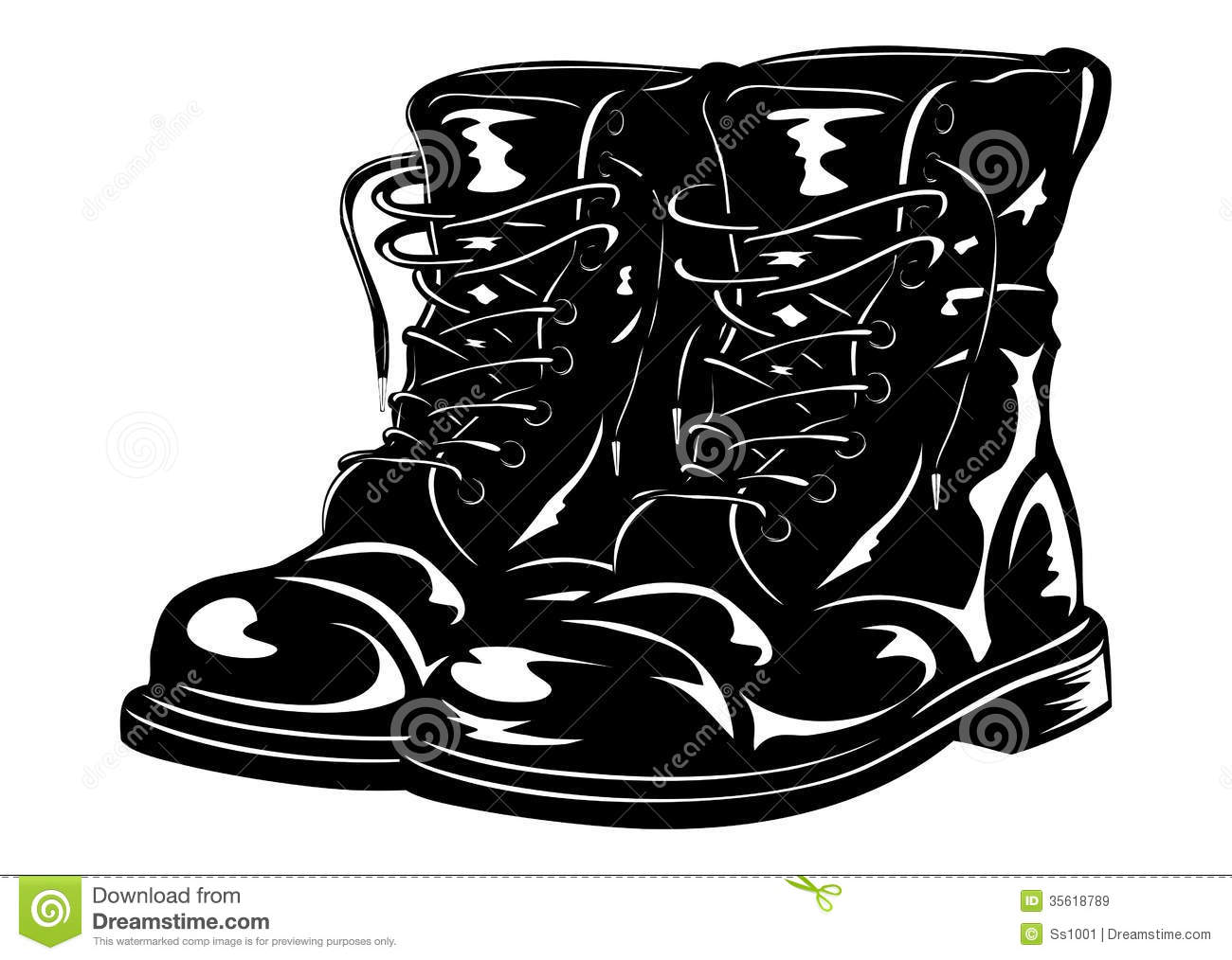 Black And White Hard Shoes Clip Art