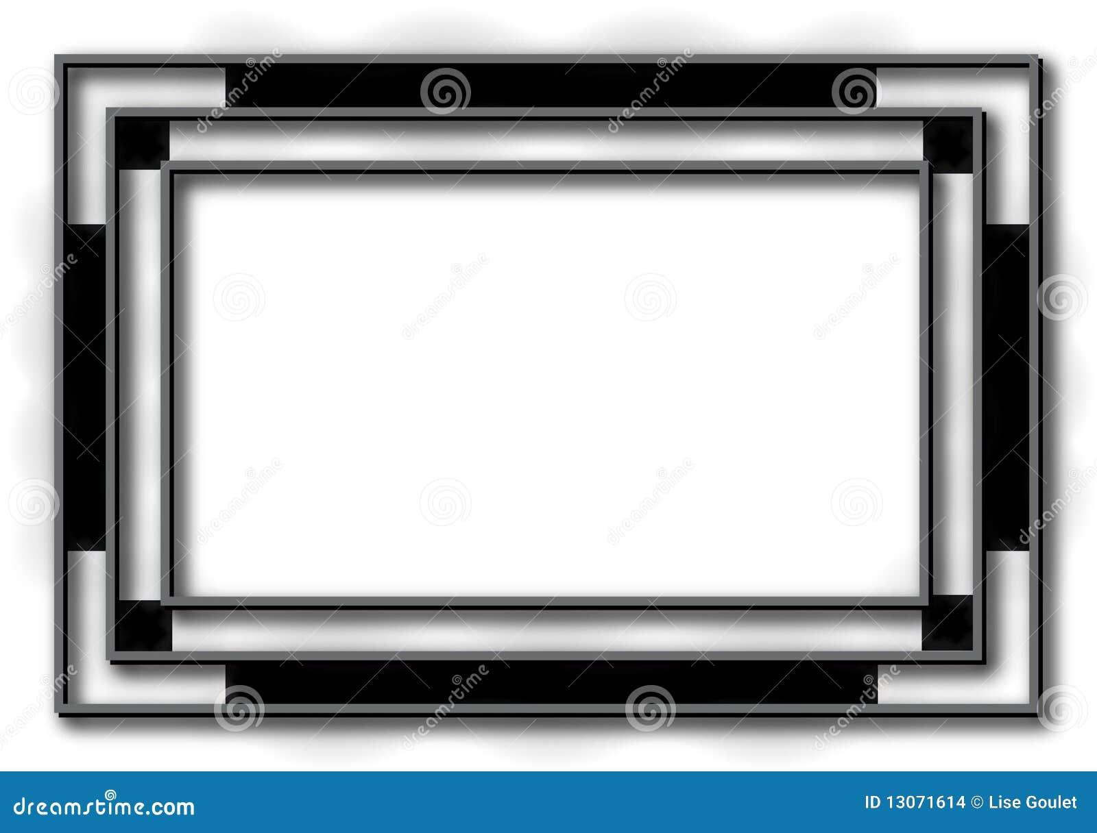 Black Art Deco Frame Background Stock Vector Illustration Of