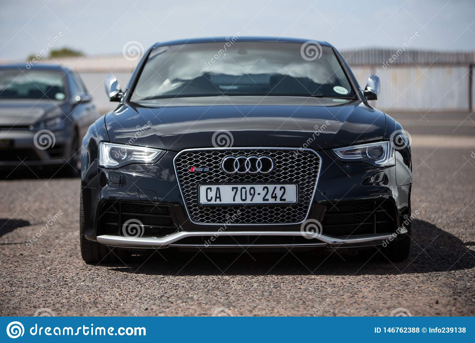 Black Audi Rs4 Coupe Front Editorial Stock Photo Image Of