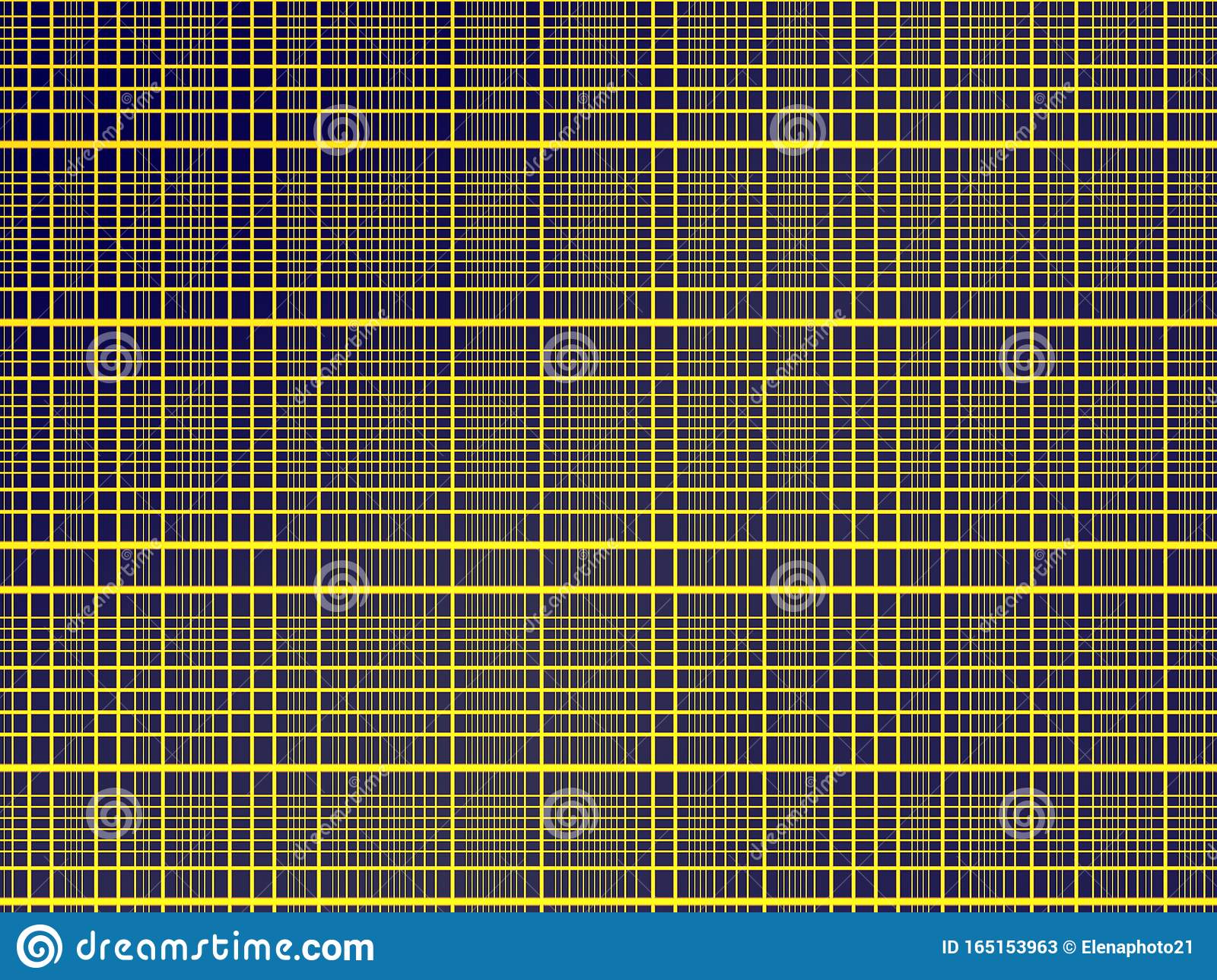 Black background full of horizontal and vertical yellow lines