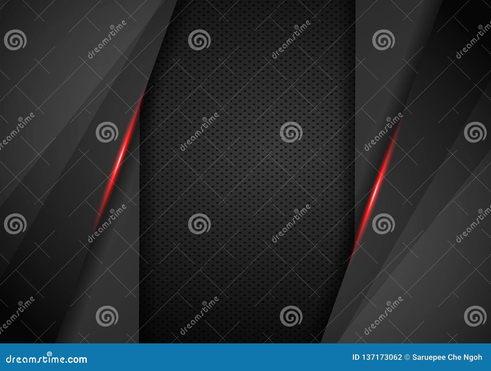 Black background overlap dimension grey vector illustration message board for text and message design modern website - Vector