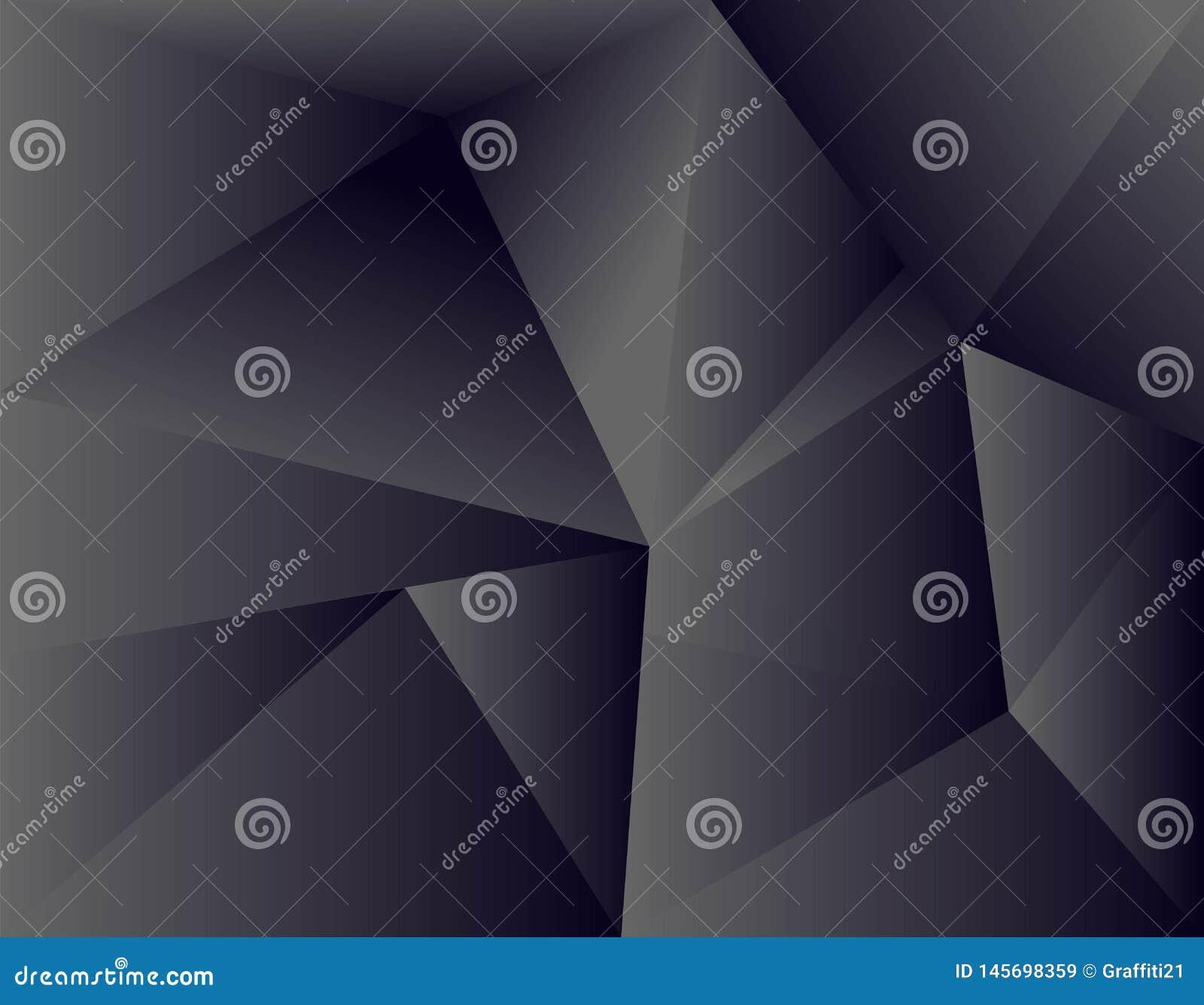Black background overlap dimension grey vector illustration message board for text and message design modern website