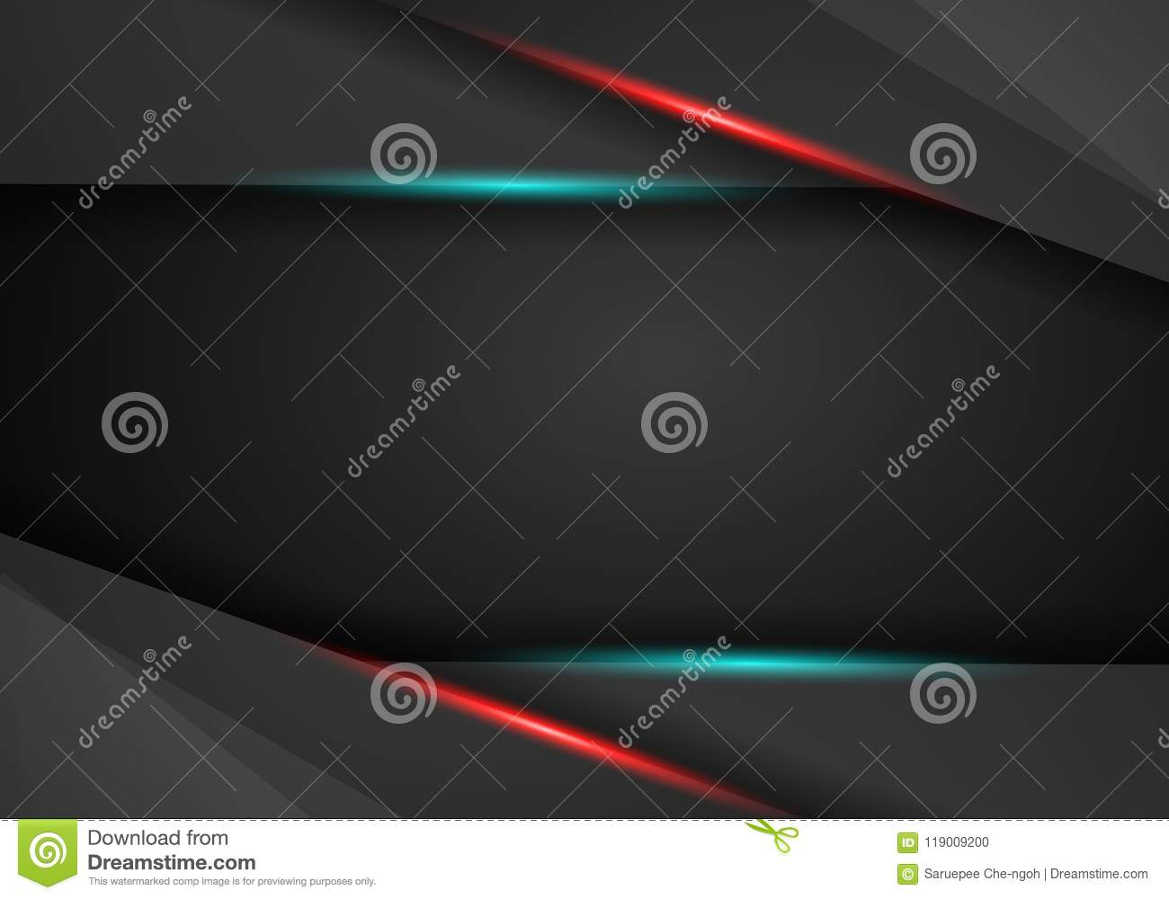 Black Background Overlap Dimension Red And Blue Frame Layout