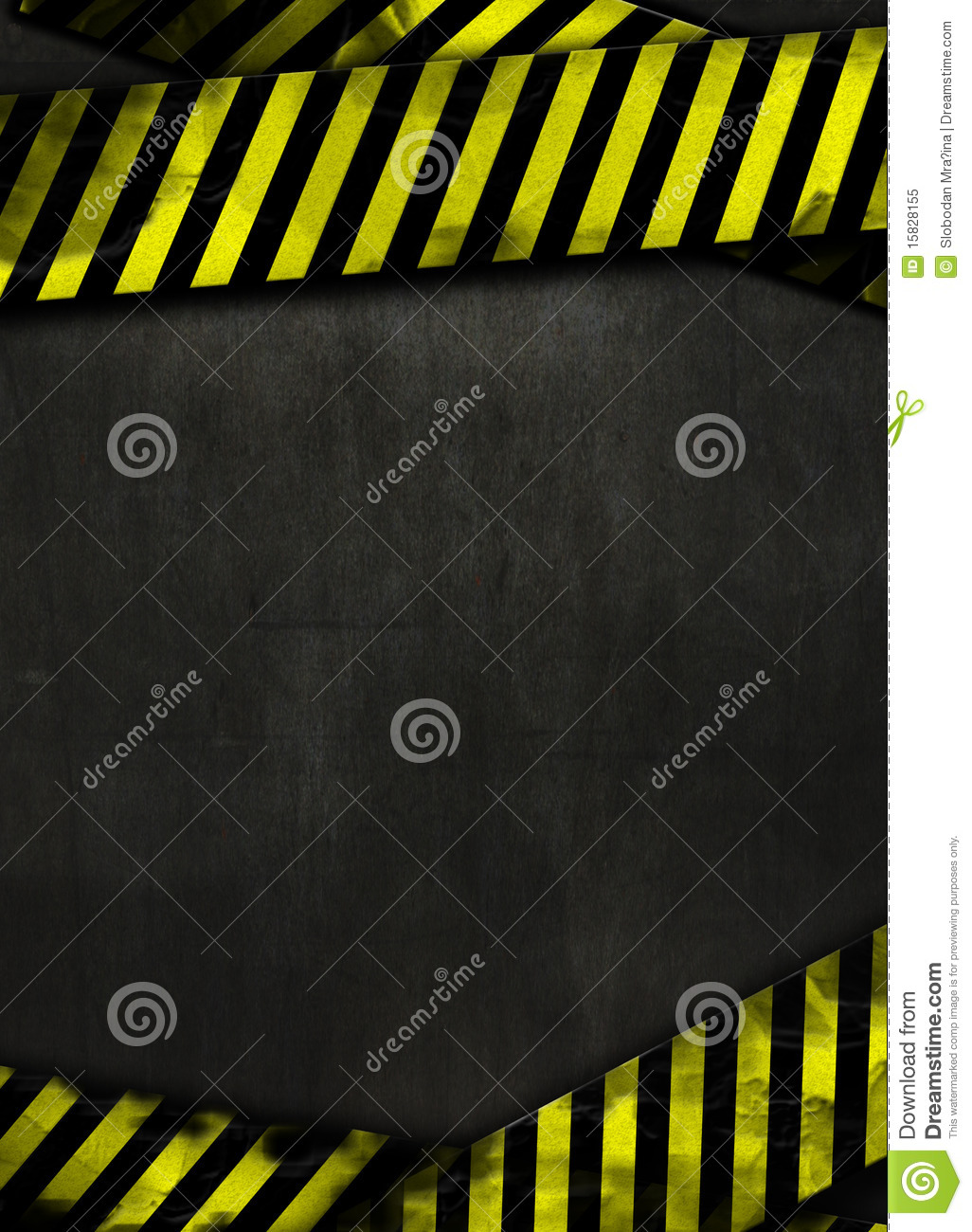 Black background and yellow tape