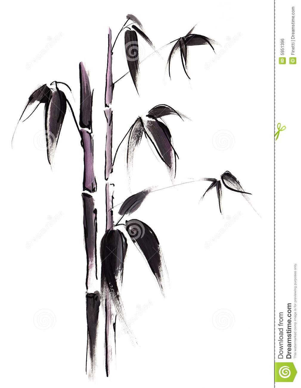 Black Bamboo Royalty Free Stock Image - Image: 5951396
