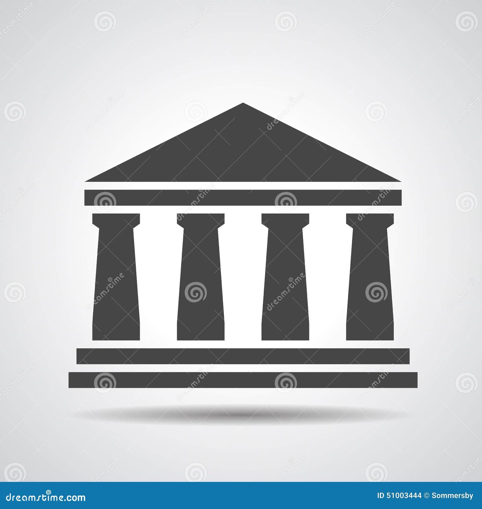 Black Bank Icon Stock Illustration - Image: 51003444