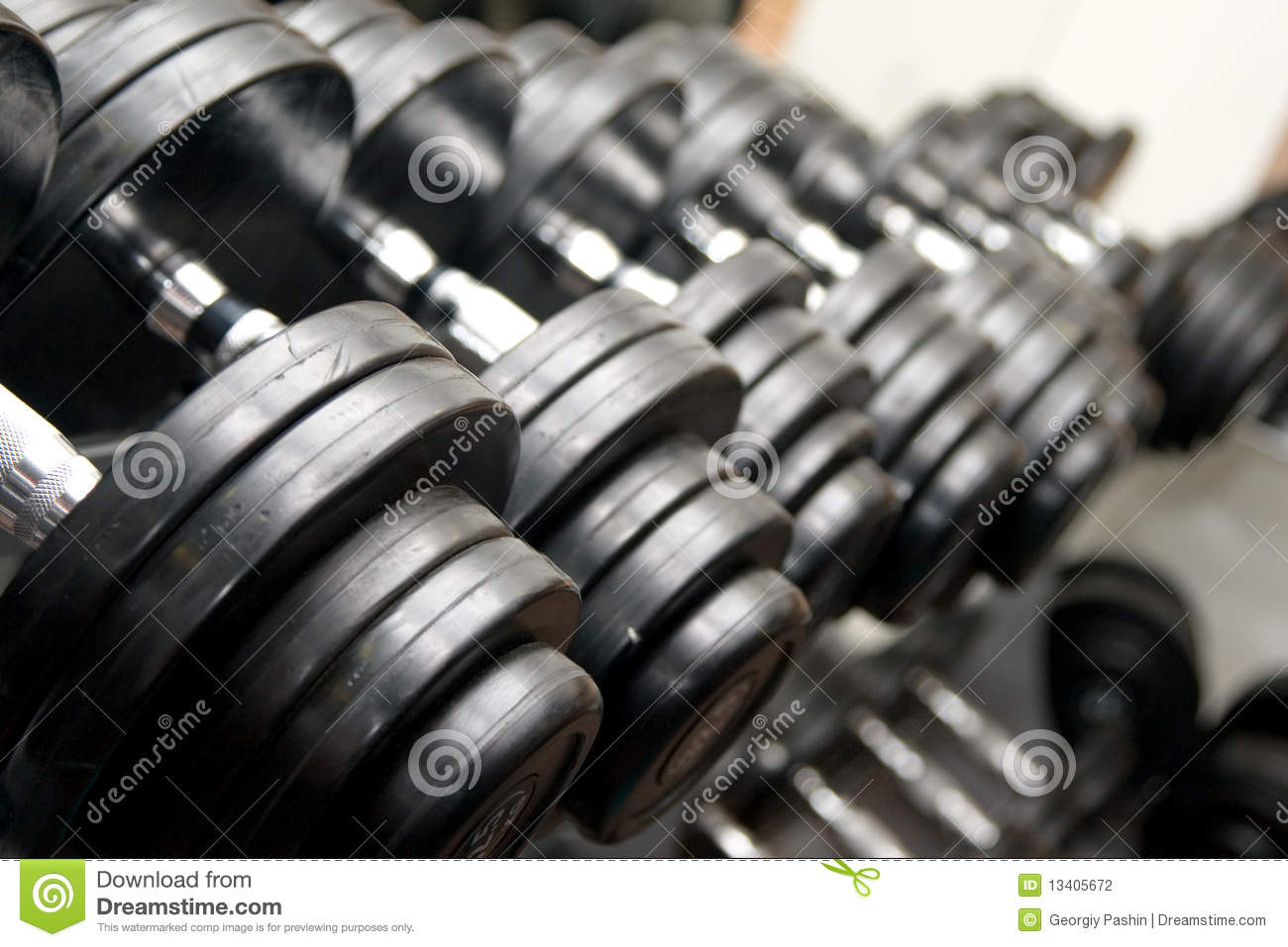 Black Barbells at the gym