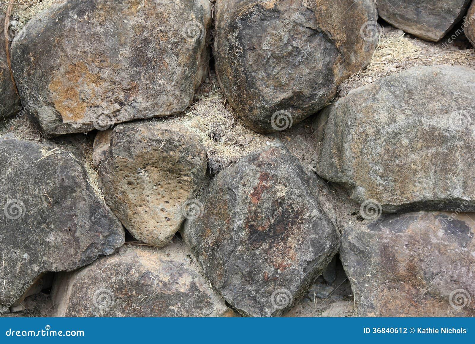 Black Basalt Stone Wall : Black basalt rock retaining wall stock photography image