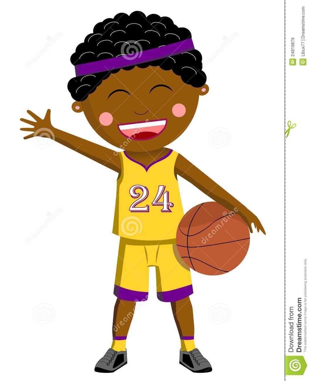 Black Basketball Kid stock vector. Illustration of ...