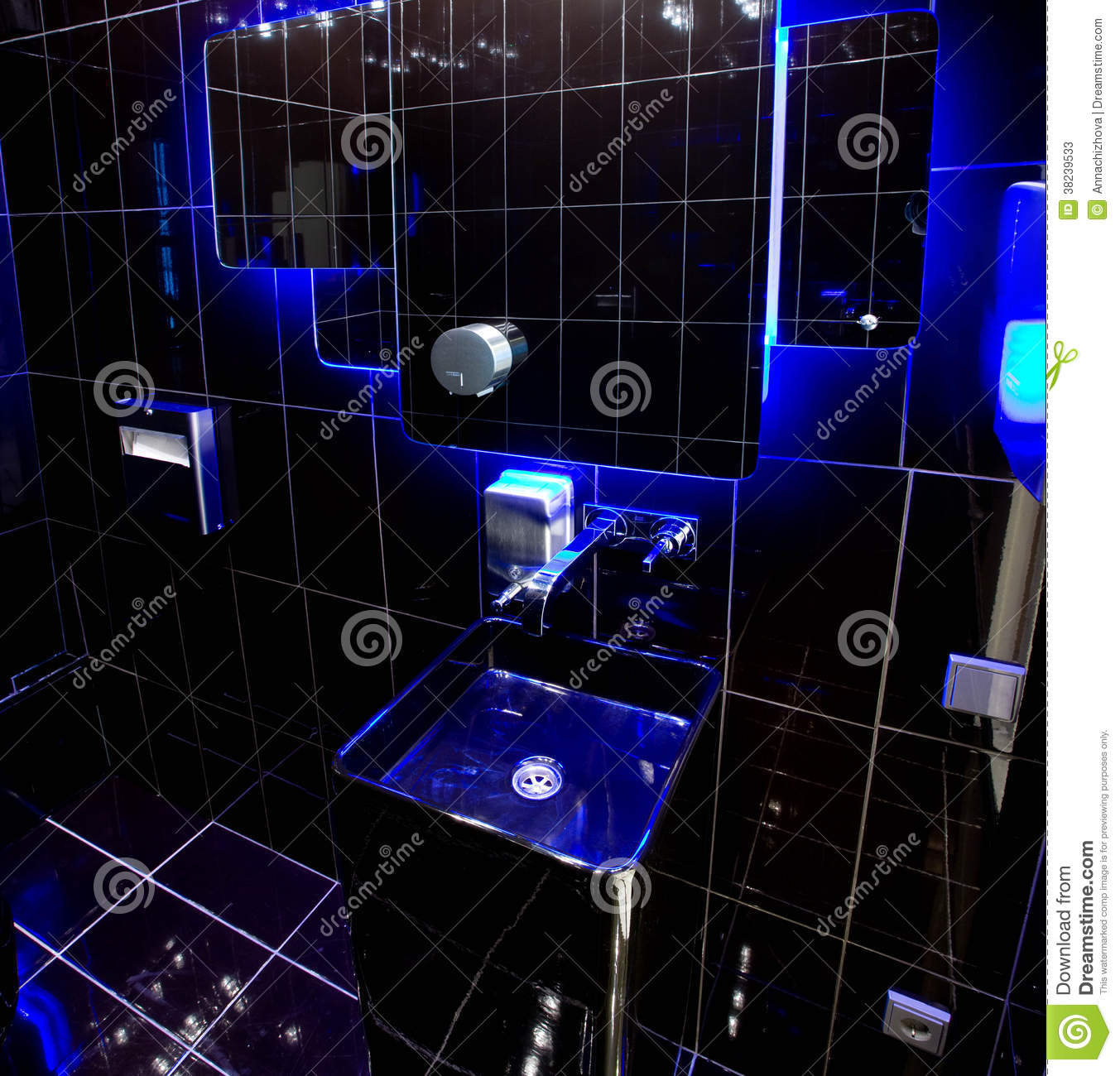 Black Bathroom With Blue Backlight Stock Image - Image of abstract on black and blue construction, black and blue landscaping, red and blue bathroom, blue and green bathroom, black and blue accessories, blue and grey themed bathroom, black and blue sunroom, pink and blue bathroom, black and blue toys, black and blue lobby, blue and gray bathroom, blue and silver bathroom, blue and brown bathroom, black and blue door, black and gray bathrooms, black and blue furniture, lavender and blue bathroom, black and blue tv, black and blue glass, black and blue desk,