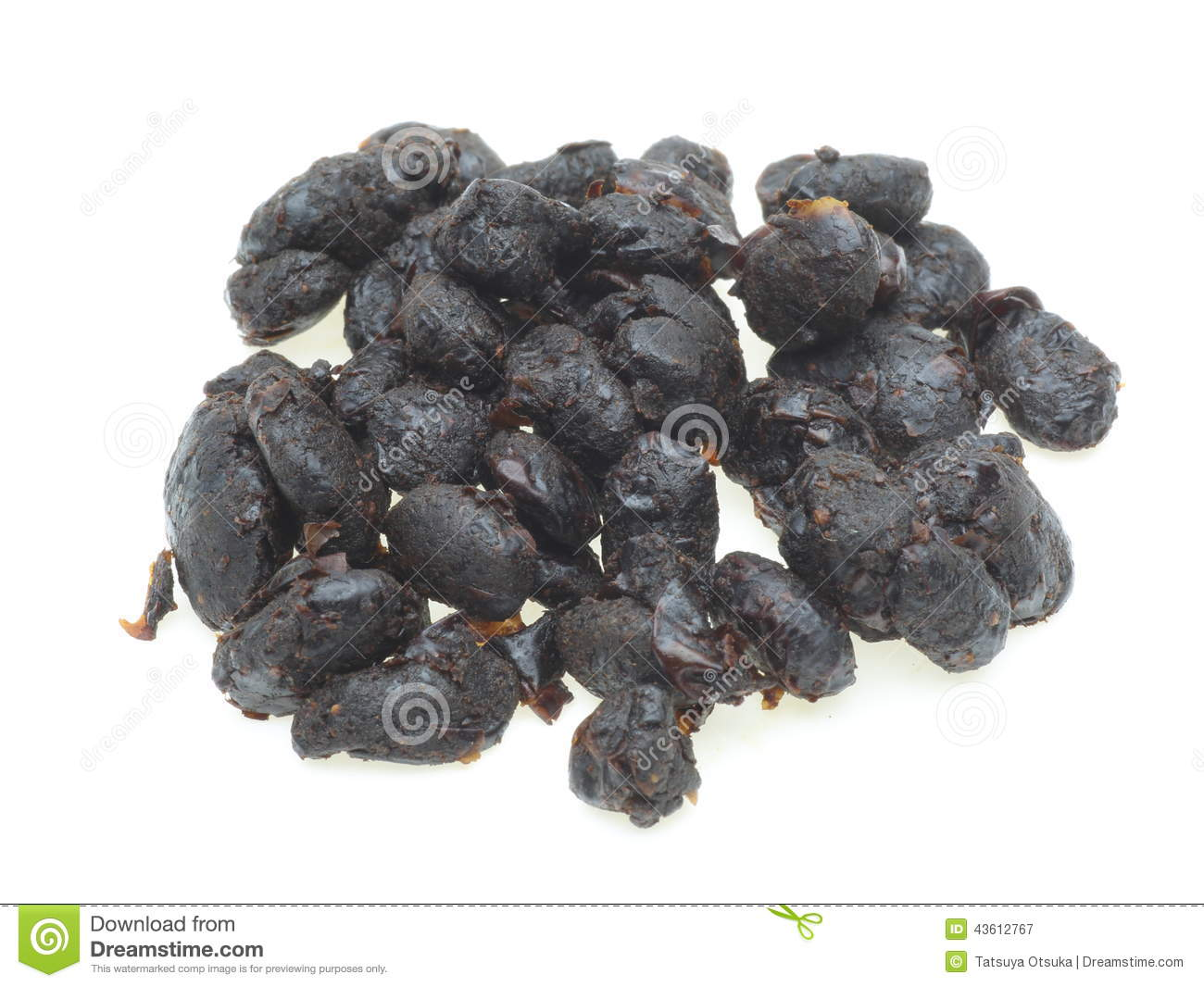 Pictured a group of chinese black bean sauce in white background.