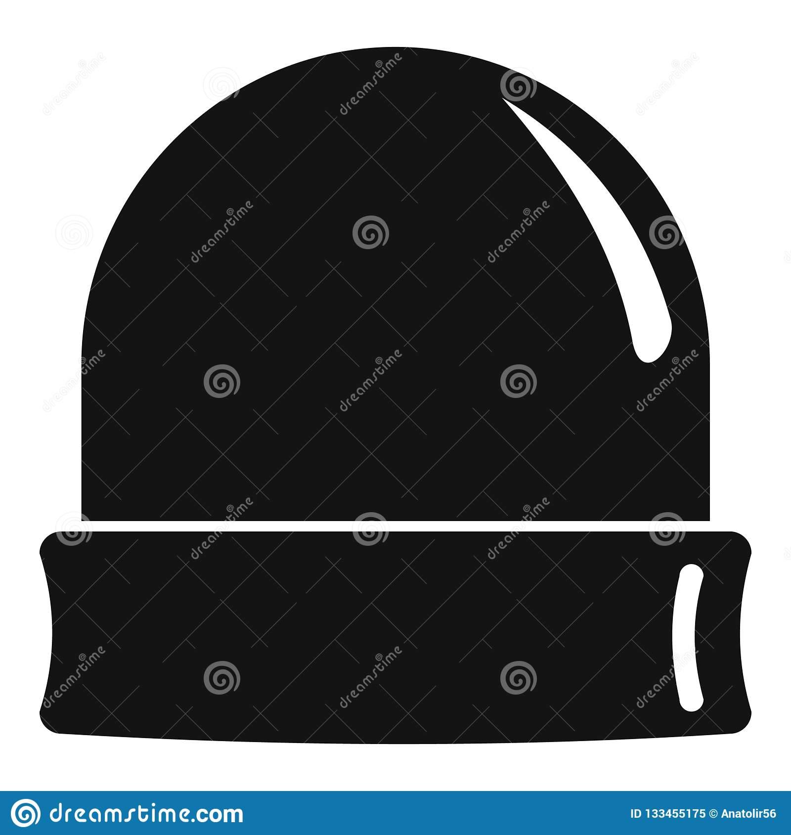 026f600c149 Black beanie icon. Simple illustration of black beanie vector icon for web  design isolated on white background