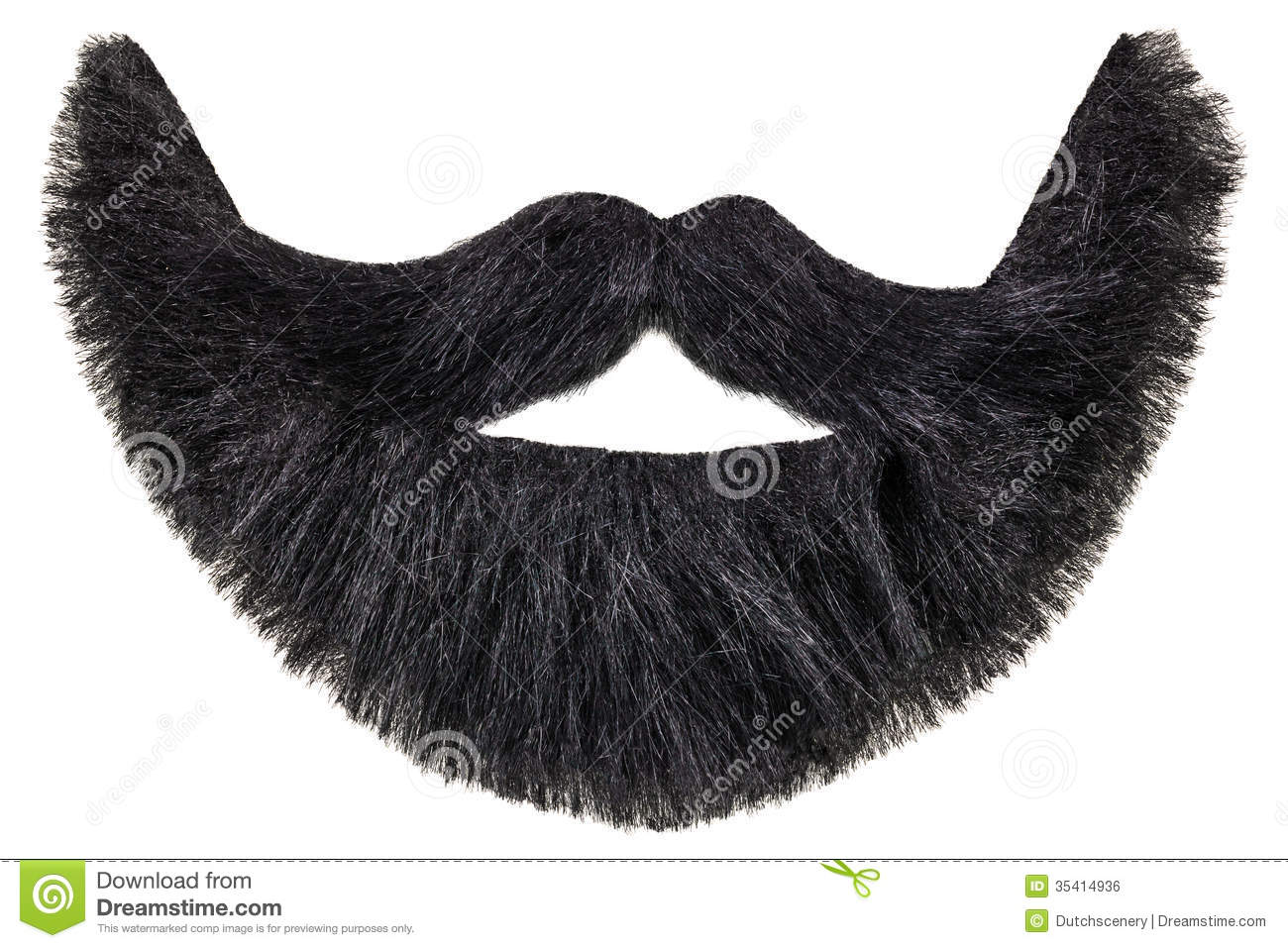 Black Beard With Mustache Isolated On White Royalty Free Stock Image ...