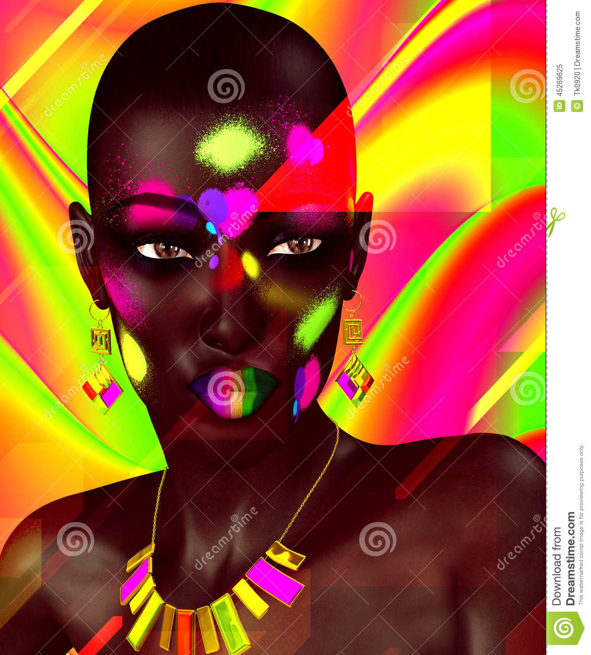 Black Beauty,Colorful Abstract Stock Illustration