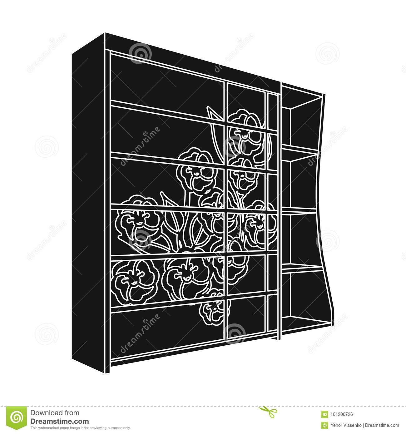 Awe Inspiring Black Bedroom Wardrobe With Cells Wardrobe With A Beautiful Home Interior And Landscaping Oversignezvosmurscom
