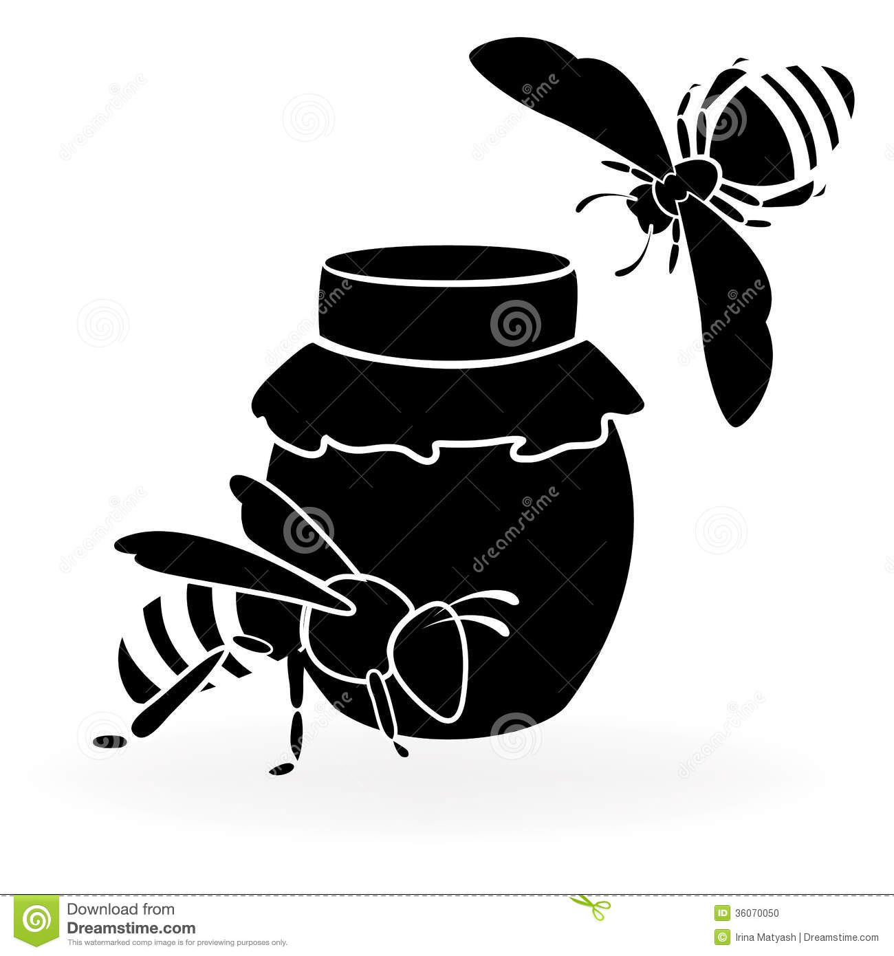 Honey Bee Silhouette Black and White Bee Clip Art Queen Bee Silhouette ...