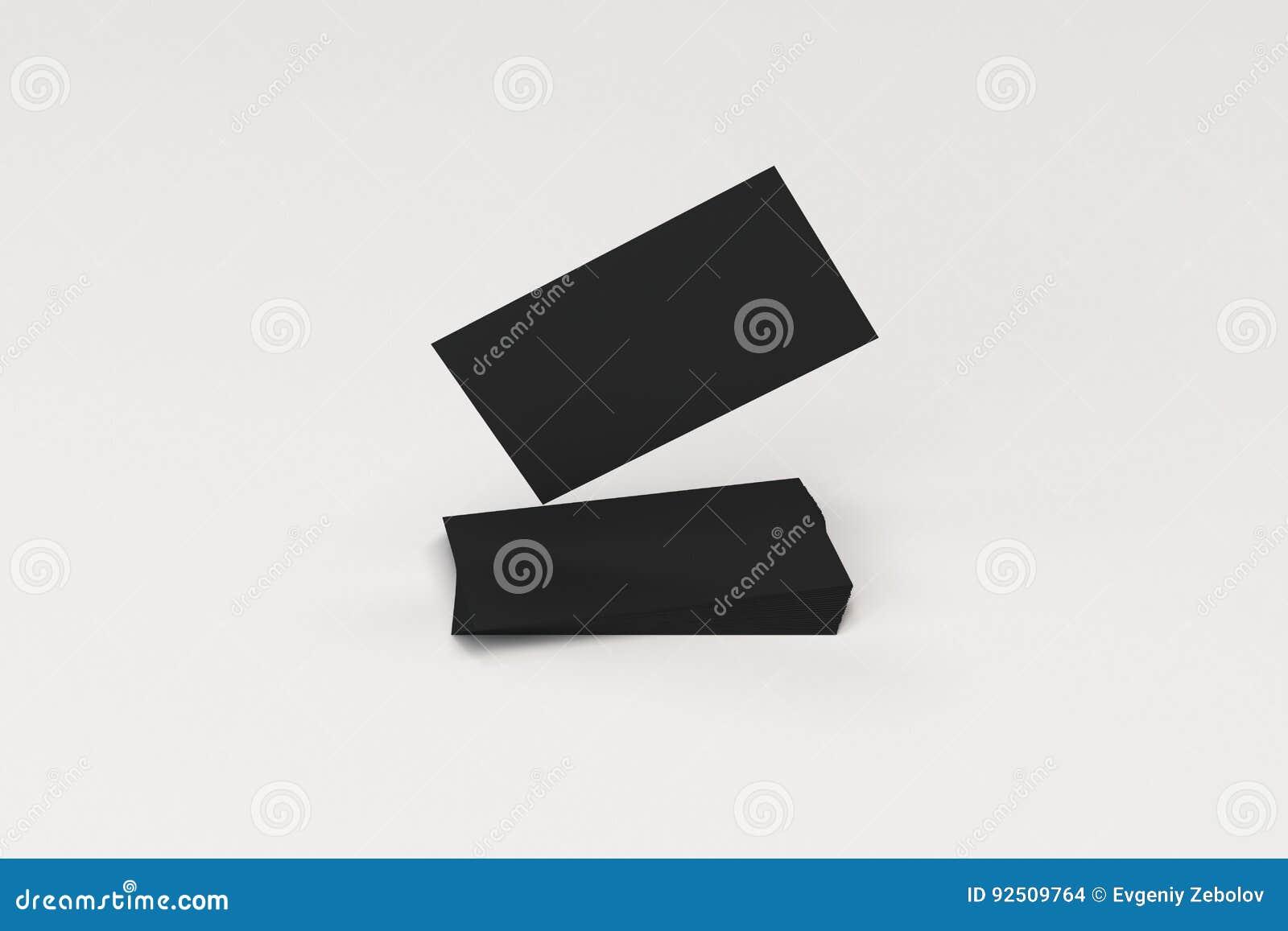 Black blank business cards mock up on white background stock download black blank business cards mock up on white background stock illustration illustration of colourmoves