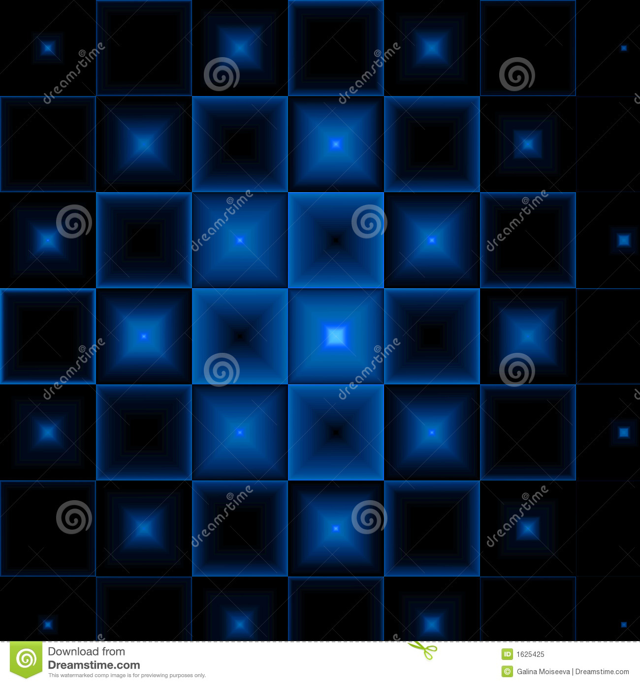 Black-blue Abstract Background Stock Illustration