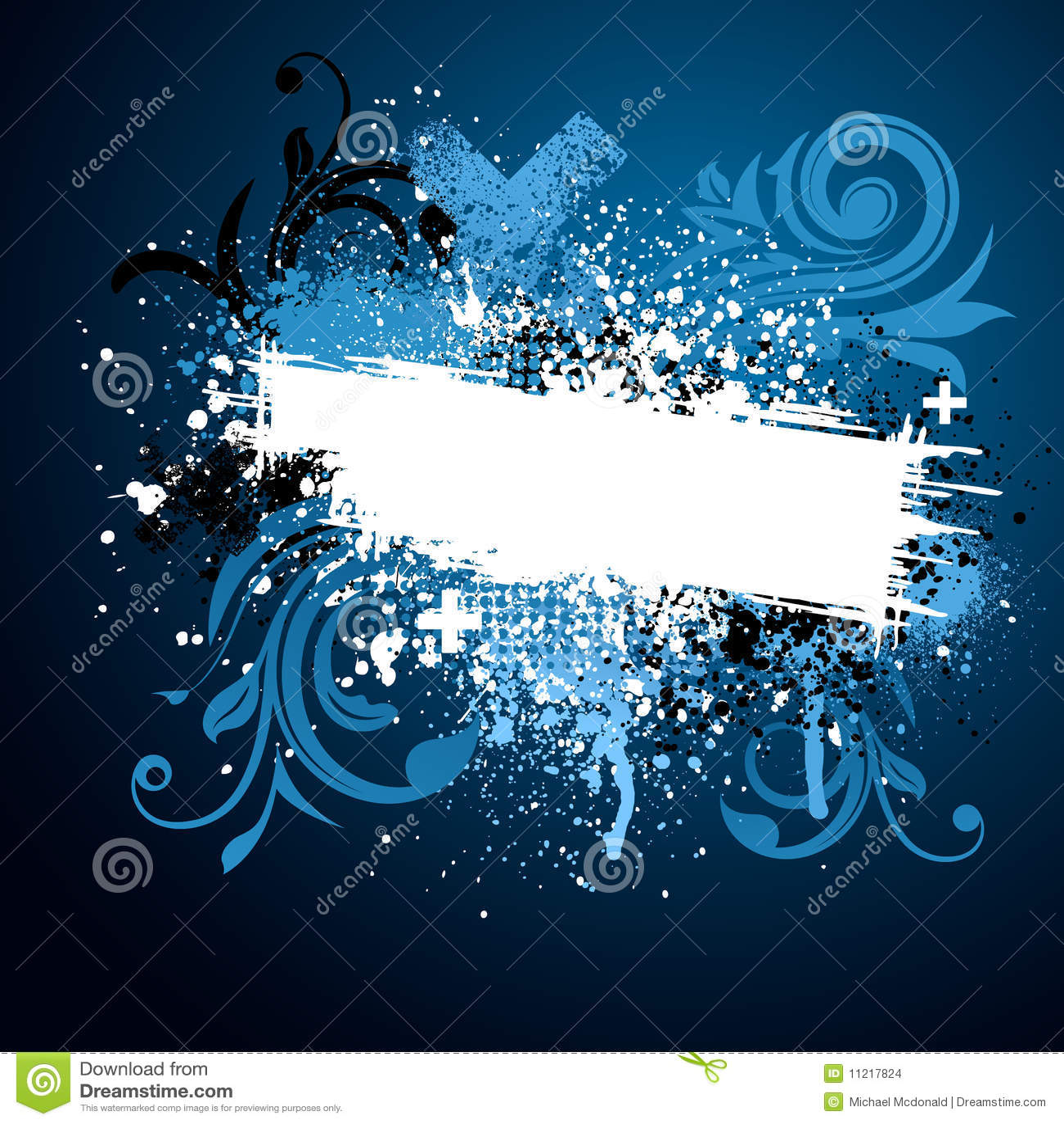 Black And Blue Floral Paint Splatter Stock Images - Image ...