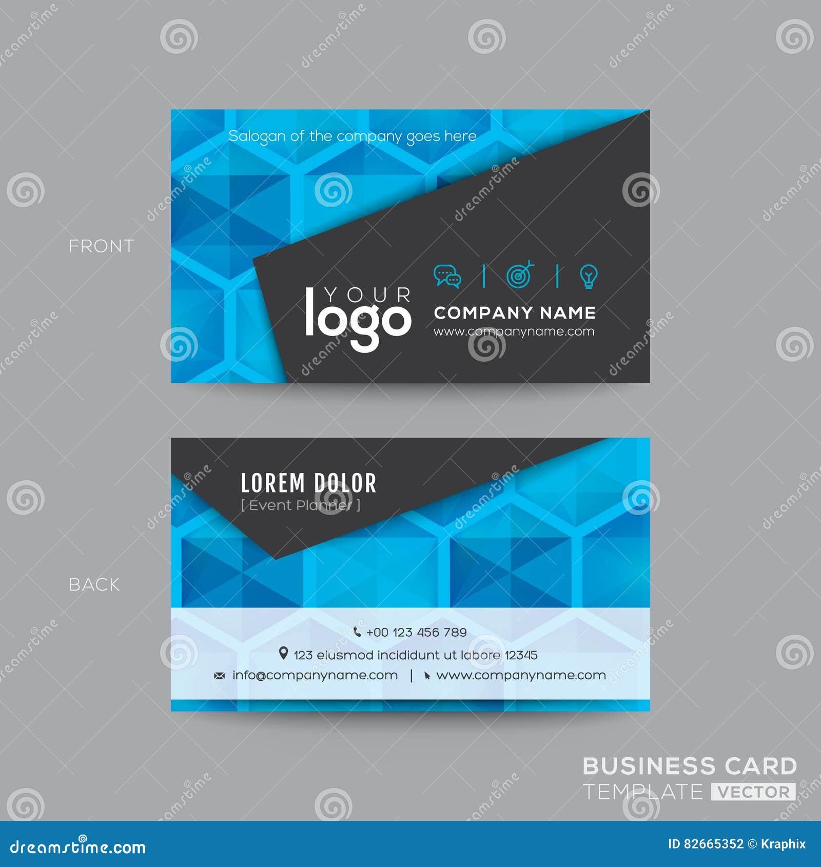 Black and blue modern business card design stock vector image black and blue modern business card design magicingreecefo Choice Image