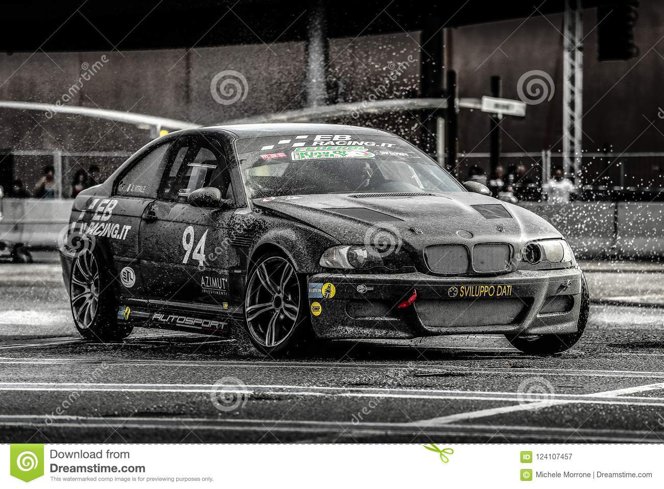 Black Bmw Drifting On The Wet Asphalt Editorial Photography Image Of Nations Automobile 124107457