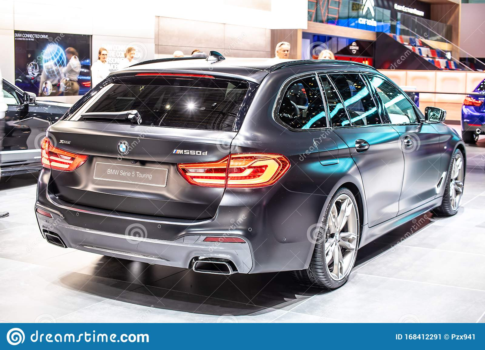 Black Bmw 5 Series Touring M550d Geneva International Motor Show 5er Station Wagon Manufactured And Marketed By Bmw Editorial Photo Image Of Generation Auto 168412291