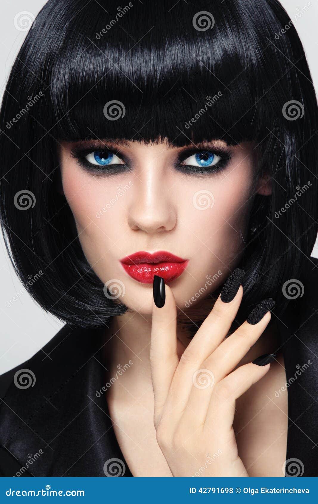 Black Bob And Manicure Stock Photo Image Of Cosmetics 42791698