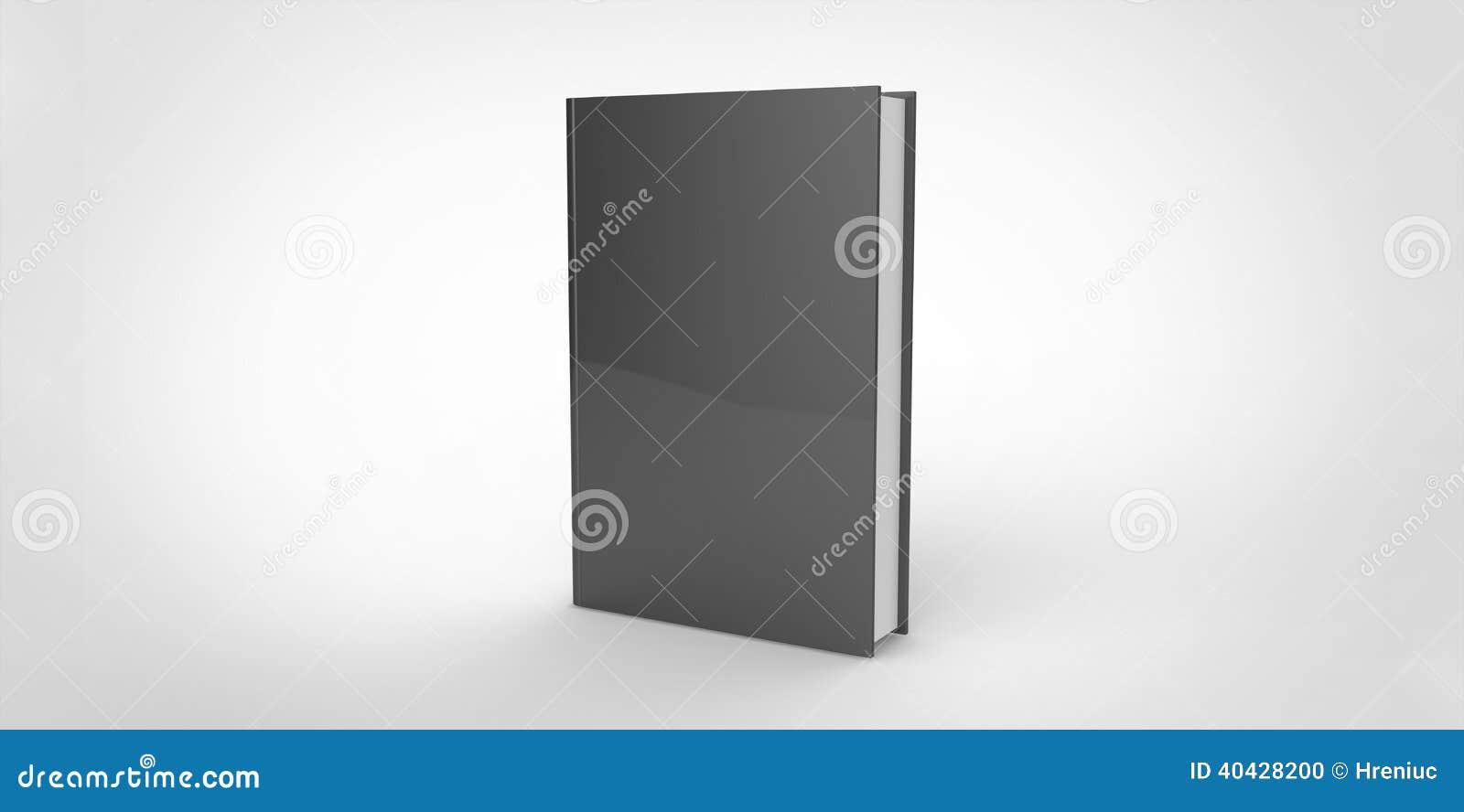 Download Black Book Cover On Plain Background Stock Illustration