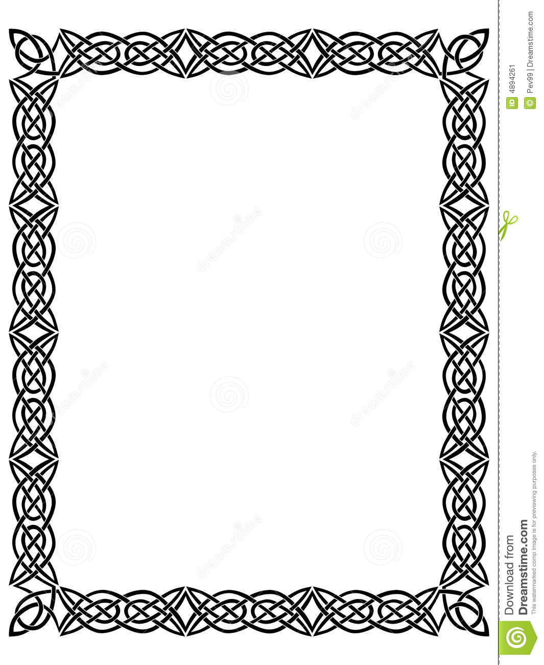 Black Border With Celtic Ornament Stock Illustration ...