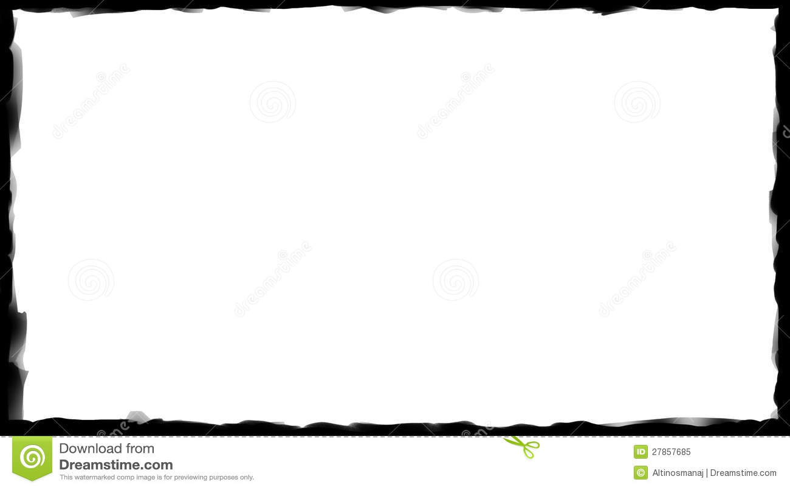Black Border Frame - Brush Stroke 04 Stock Image - Image ...