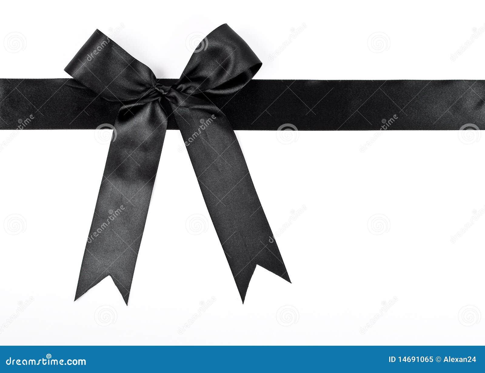 Black Ribbon Bow Black bow with ribbon Royalty