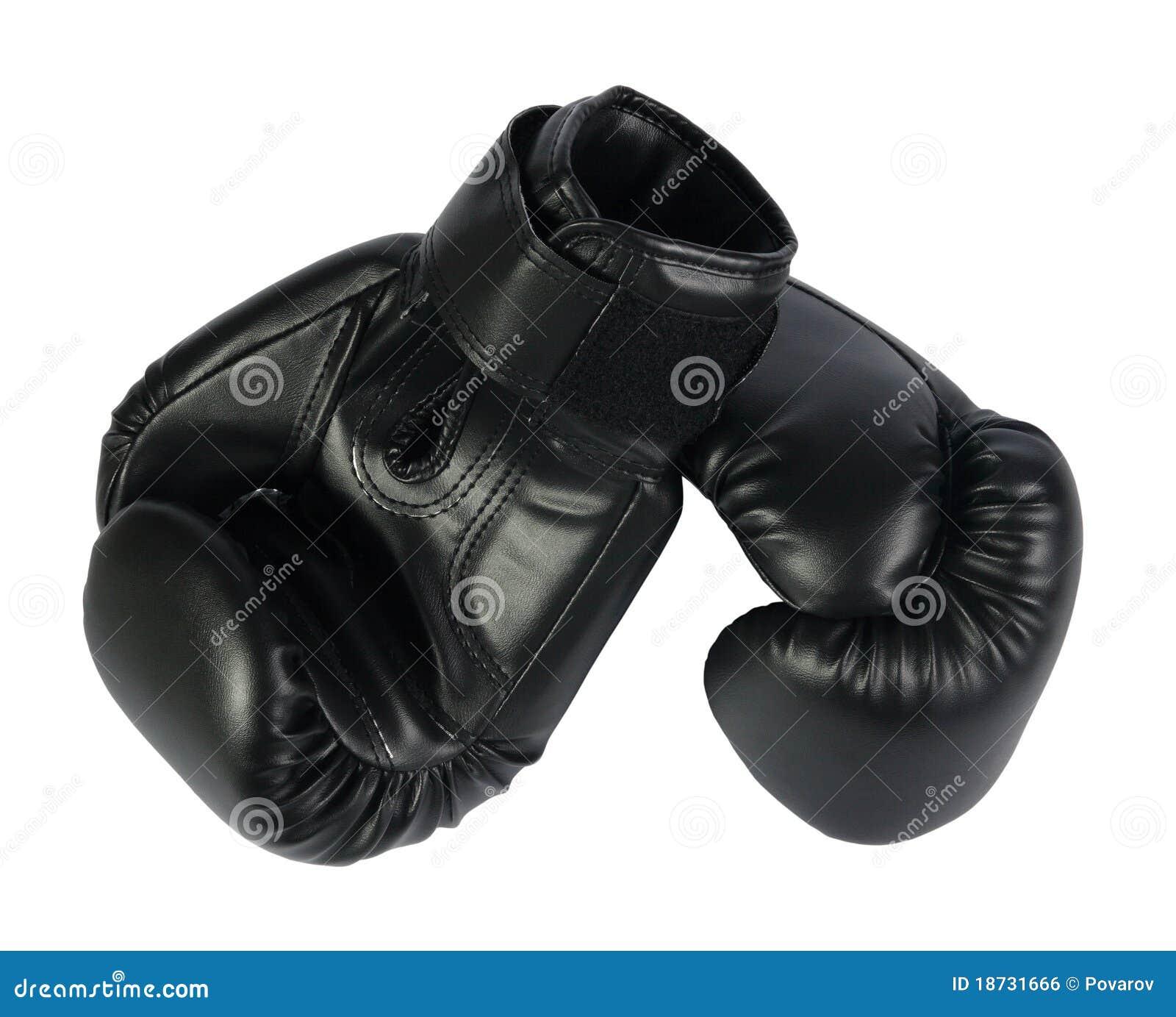Black Boxing-gloves Stock Photo. Image Of Glove, Round